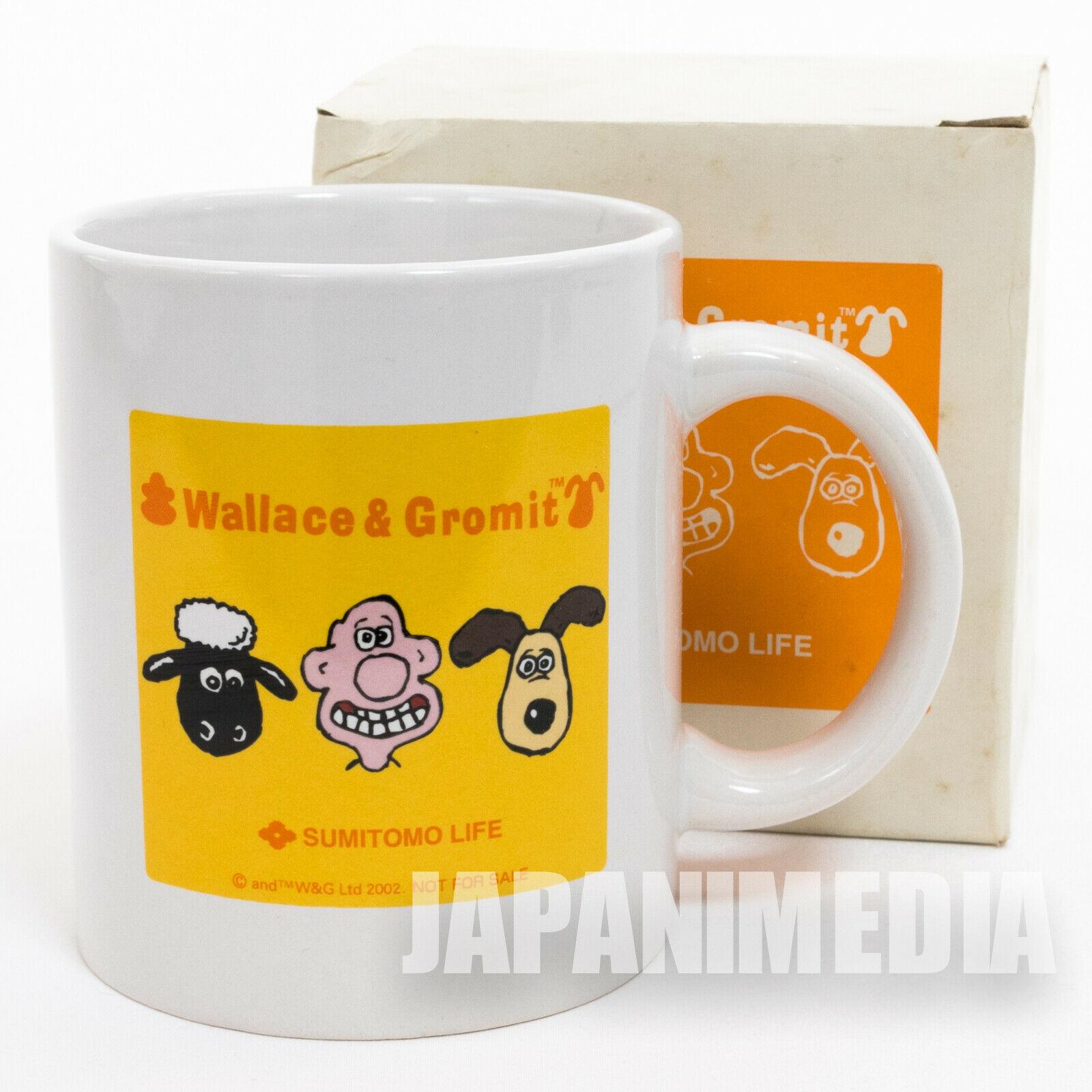 Wallace & Gromit MUG Sumitomo Life Novelty JAPAN Ardman ANIME 3