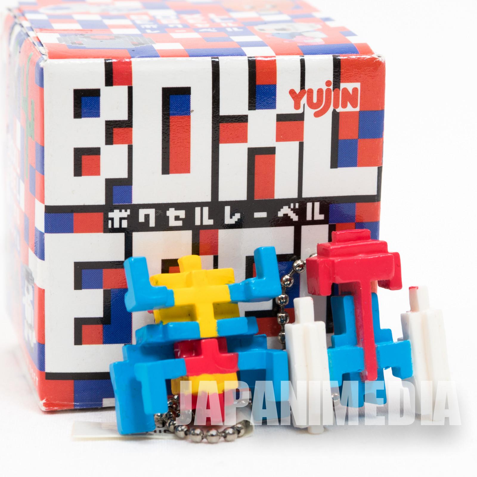 BOXLEBEL Famicom Character Figure Key Chain Galaga Namco JAPAN NES