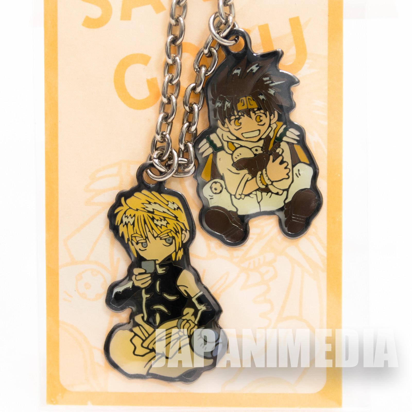 Gensomaden SAIYUKI Genjo Sanzo & Son Goku Mascot Charm Chain Strap JAPAN ANIME