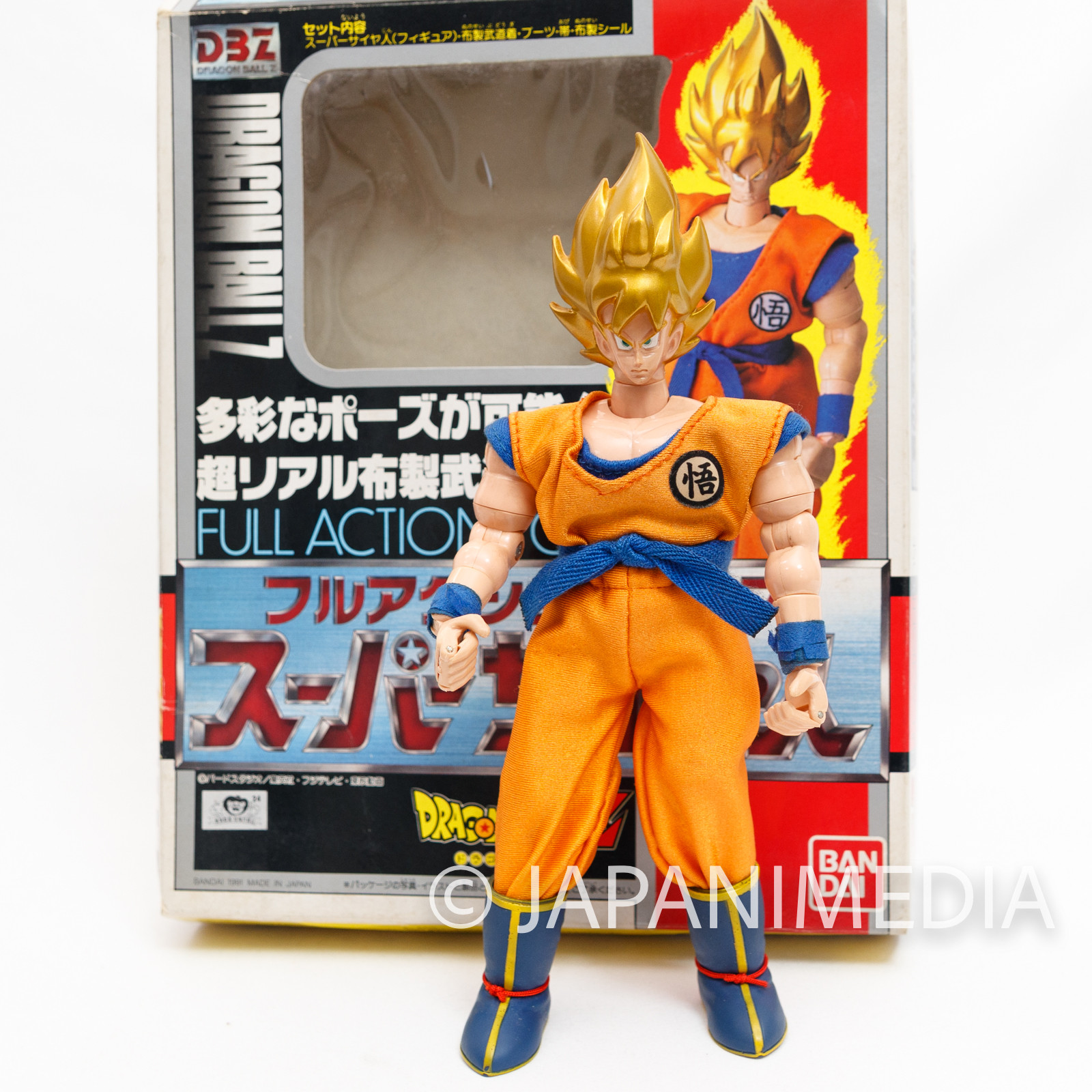 Dragon Ball Z Super Saiyan Son Gokou Full Action Pose Figure Bandai JAPAN ANIME