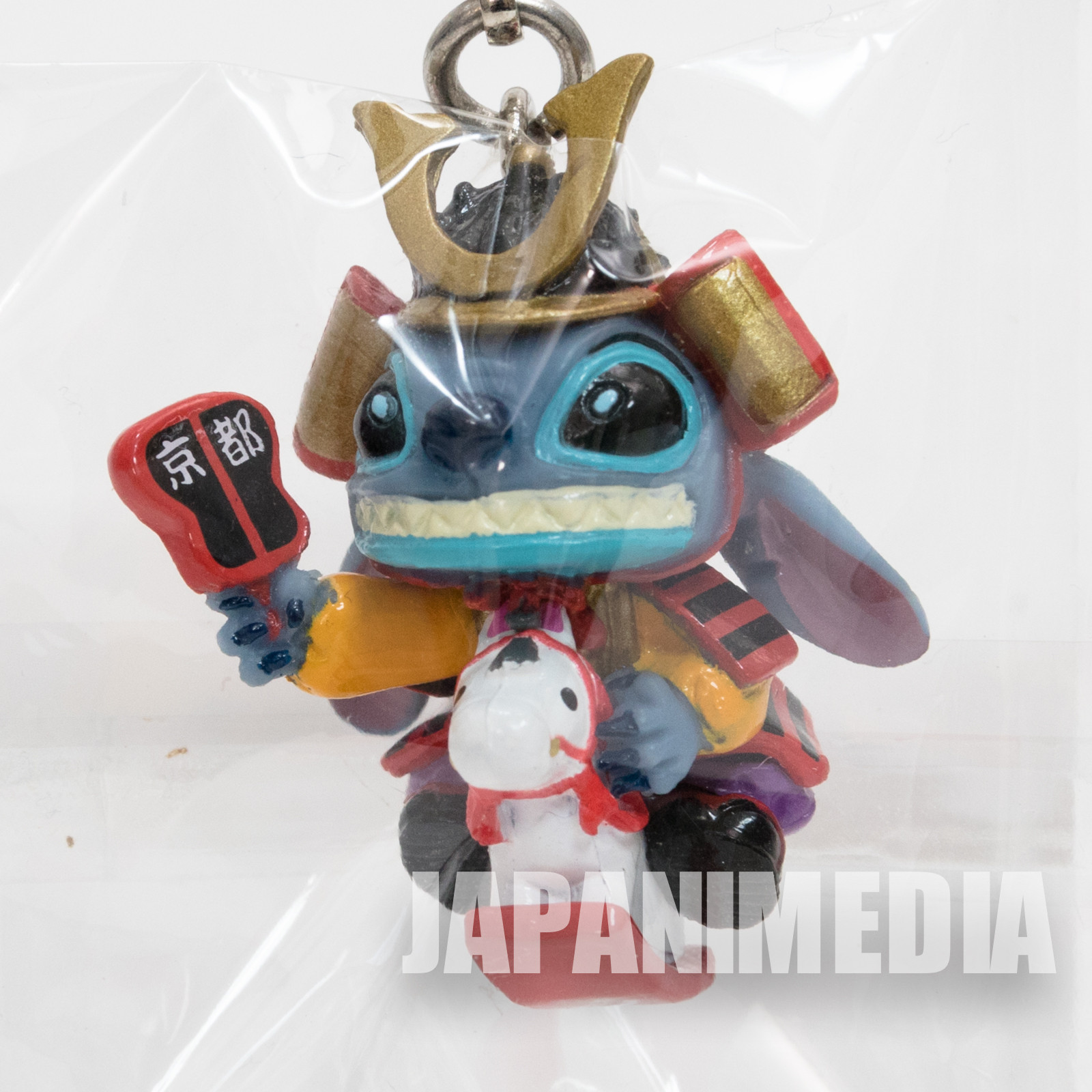 Disney Stitch Kyoto Yoshitsune Samurai Armor Ver. Mascot Figure Mobile Strap