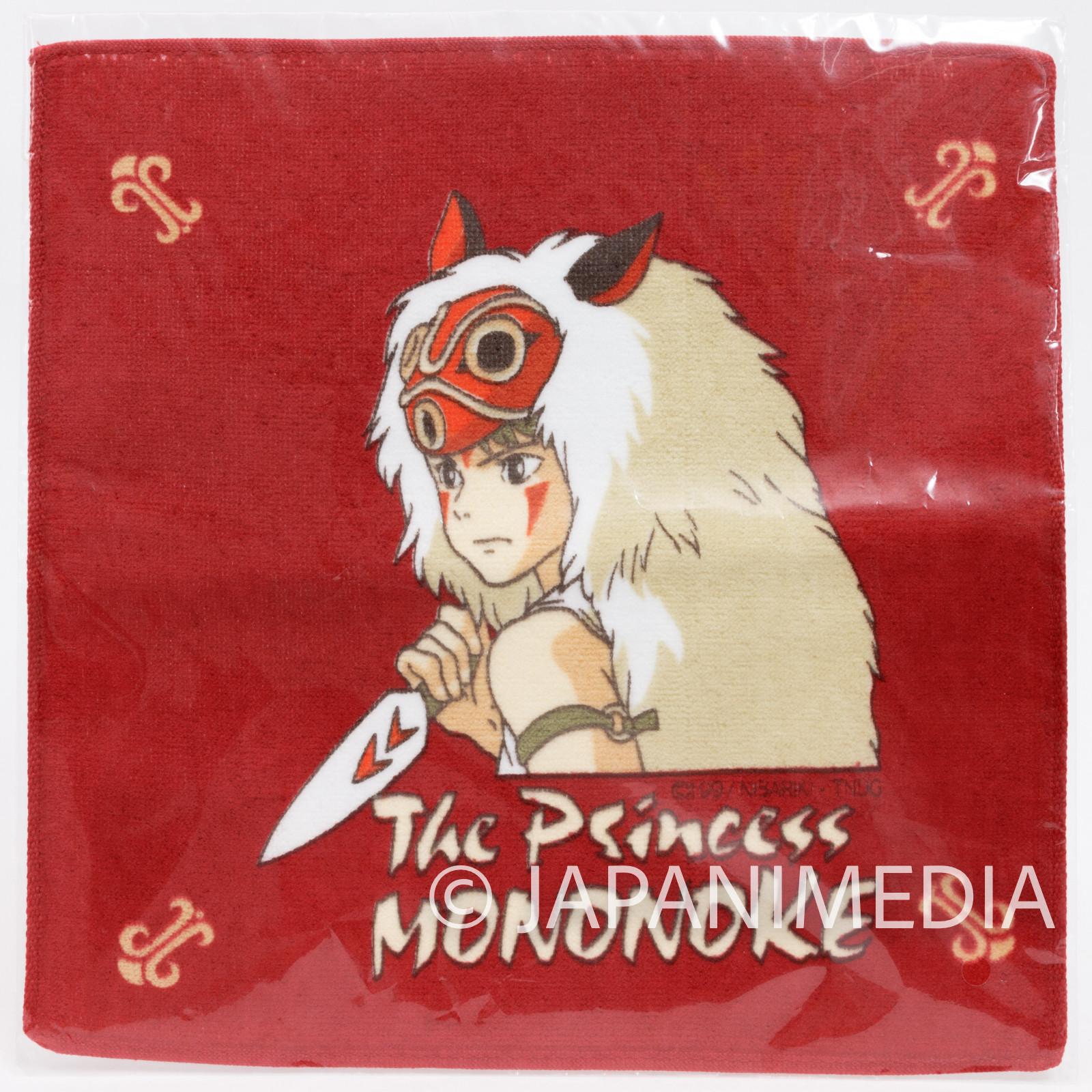 Princess Mononoke San Hand Towel 8x8inch Ghibli JAPAN ANIME