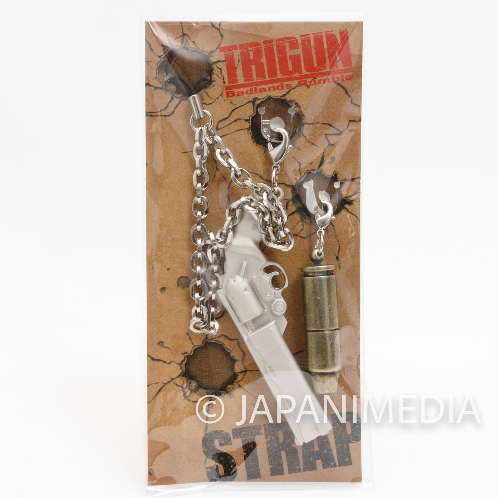 TRIGUN Badlands Rumble Vash's Gun Figure Keychain Strap JAPAN ANIME
