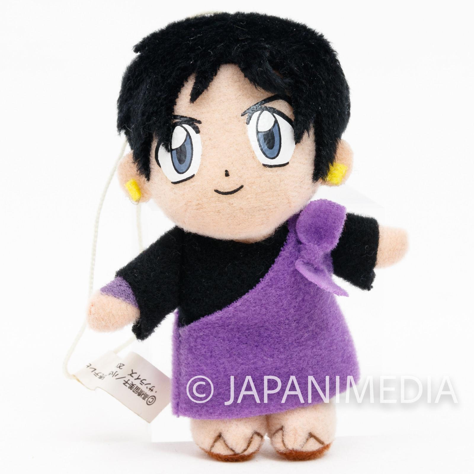 "RARE!! InuYasha Miroku Inuyasha 3"" Mini Plush Doll JAPAN ANIME MANGA"