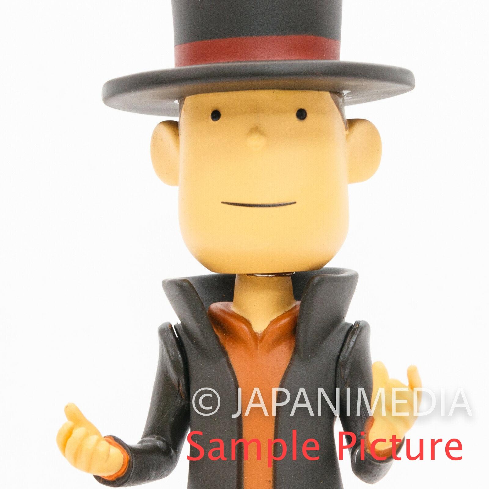 Professor Layton Bobble Bobbin Head Figure Nintendo DS GAME JAPAN