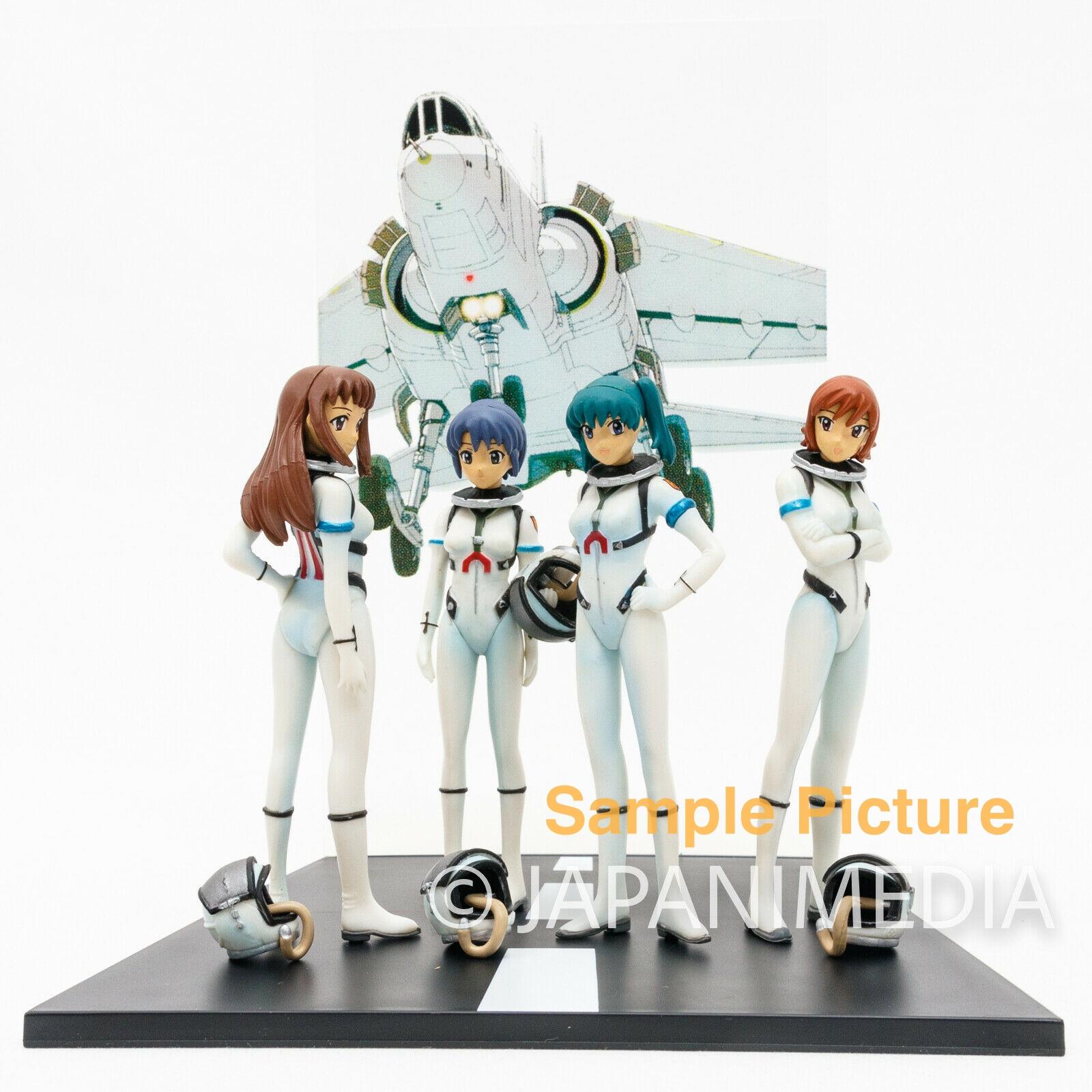 Stratos Four 4 Mini Diorama Figure Set Mikaze Karin Ayamo Shizuha JAPAN ANIME