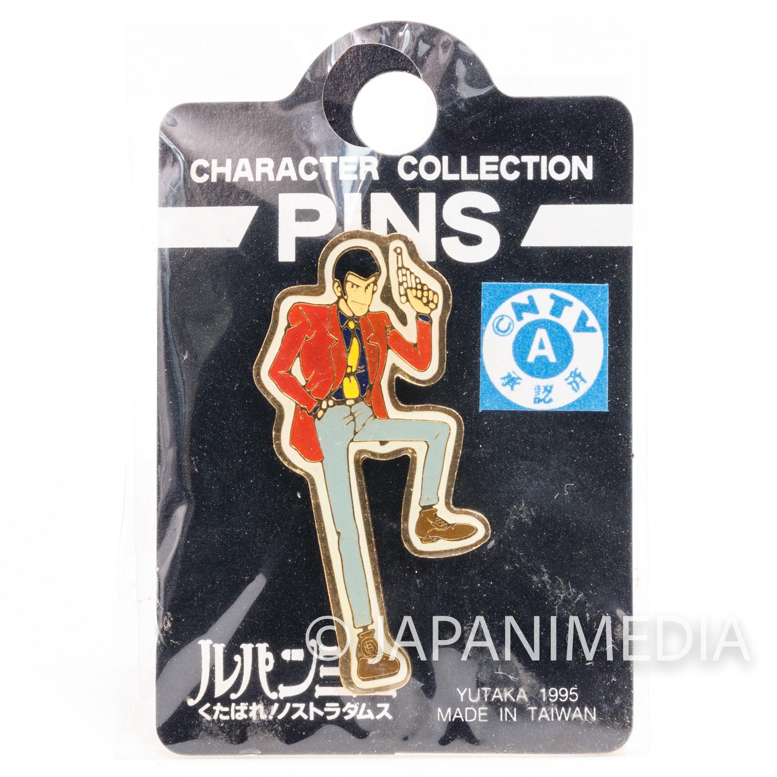 Lupin the Third (3rd) LUPIN Metal Pins JAPAN ANIME