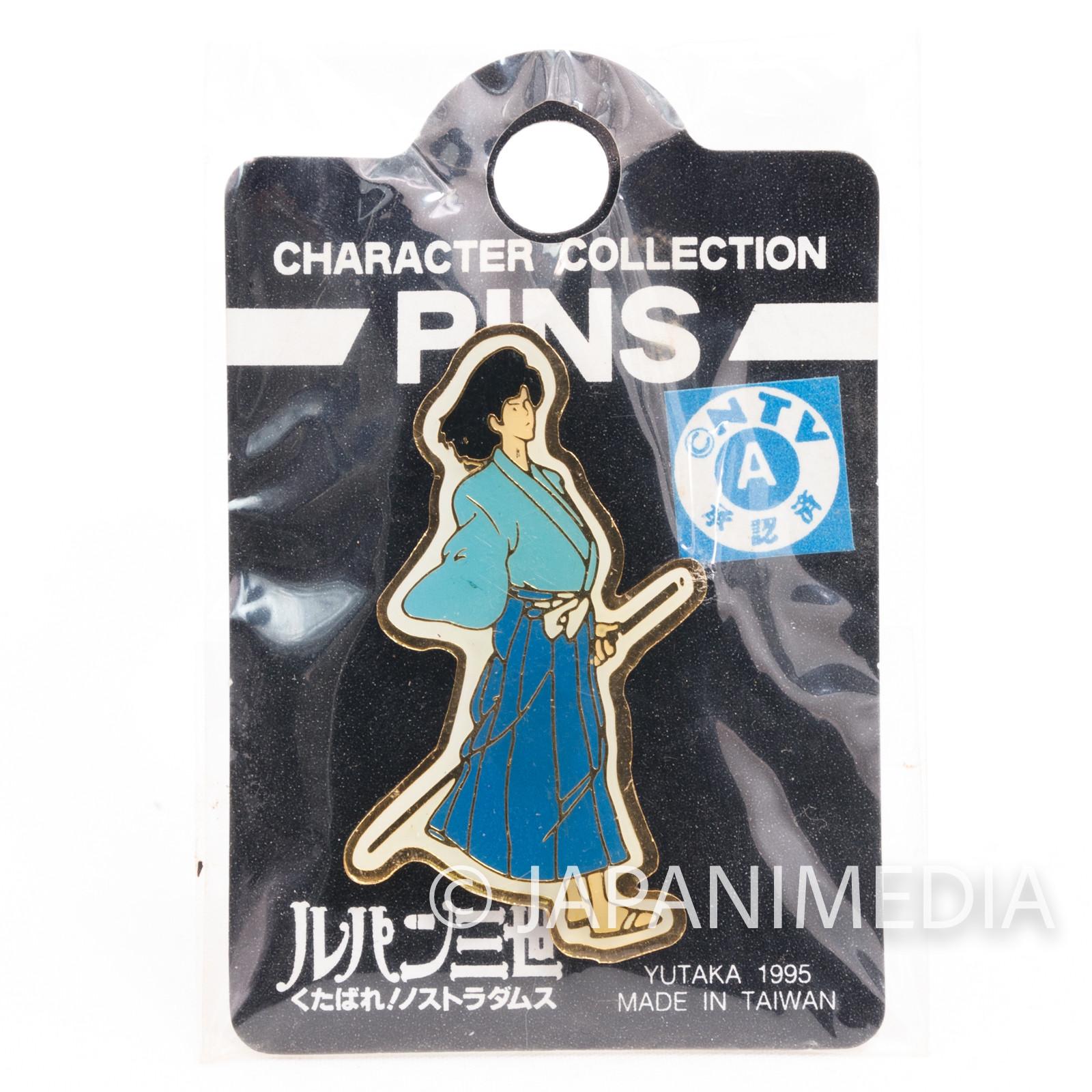 Lupin the Third (3rd) Goemon Ishikawa Metal Pins JAPAN ANIME