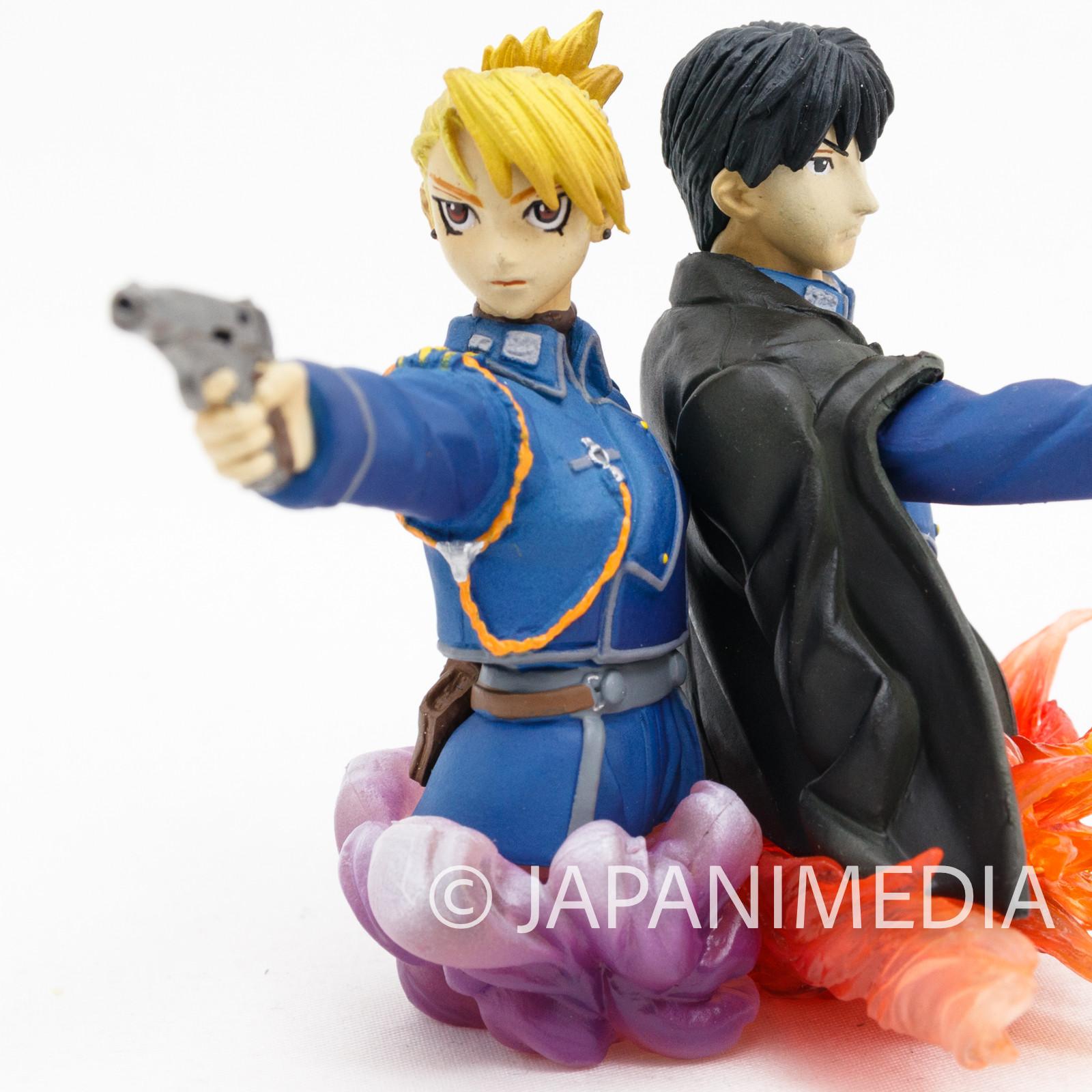 Fullmetal Alchemist Roy Mustang & Riza Hawkeye Mini Diorama Figure JAPAN