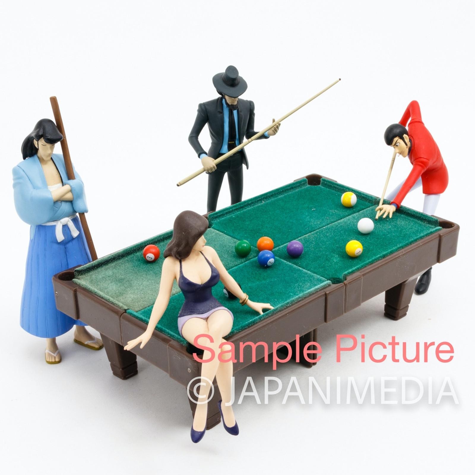 Lupin the Third (3rd)  Opening Scene Billiards Figure Set JAPAN ANIME MANGA 2