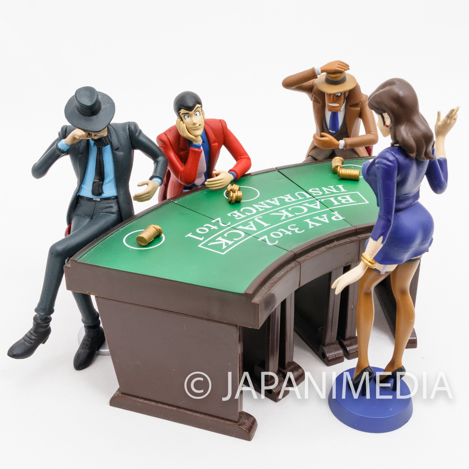 (Parts Missing) Lupin the Third (3rd) Casino Scene Figure Set Banpresto JAPAN ANIME MANGA