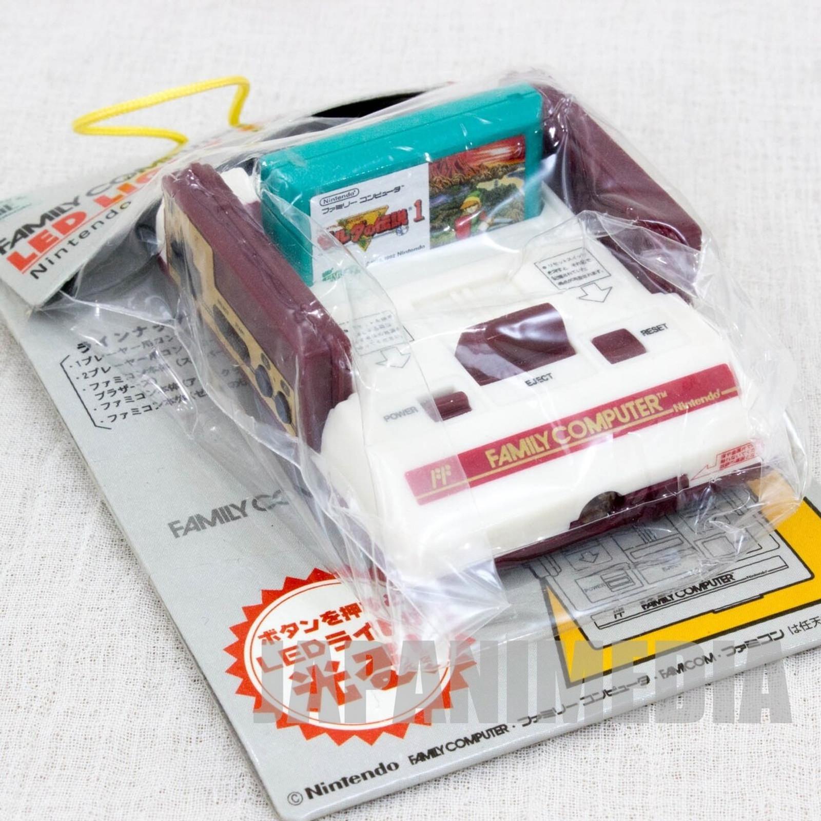 Nintendo Family Computer Zelda Cassette LED Light Figure Key Chain Famicom NES