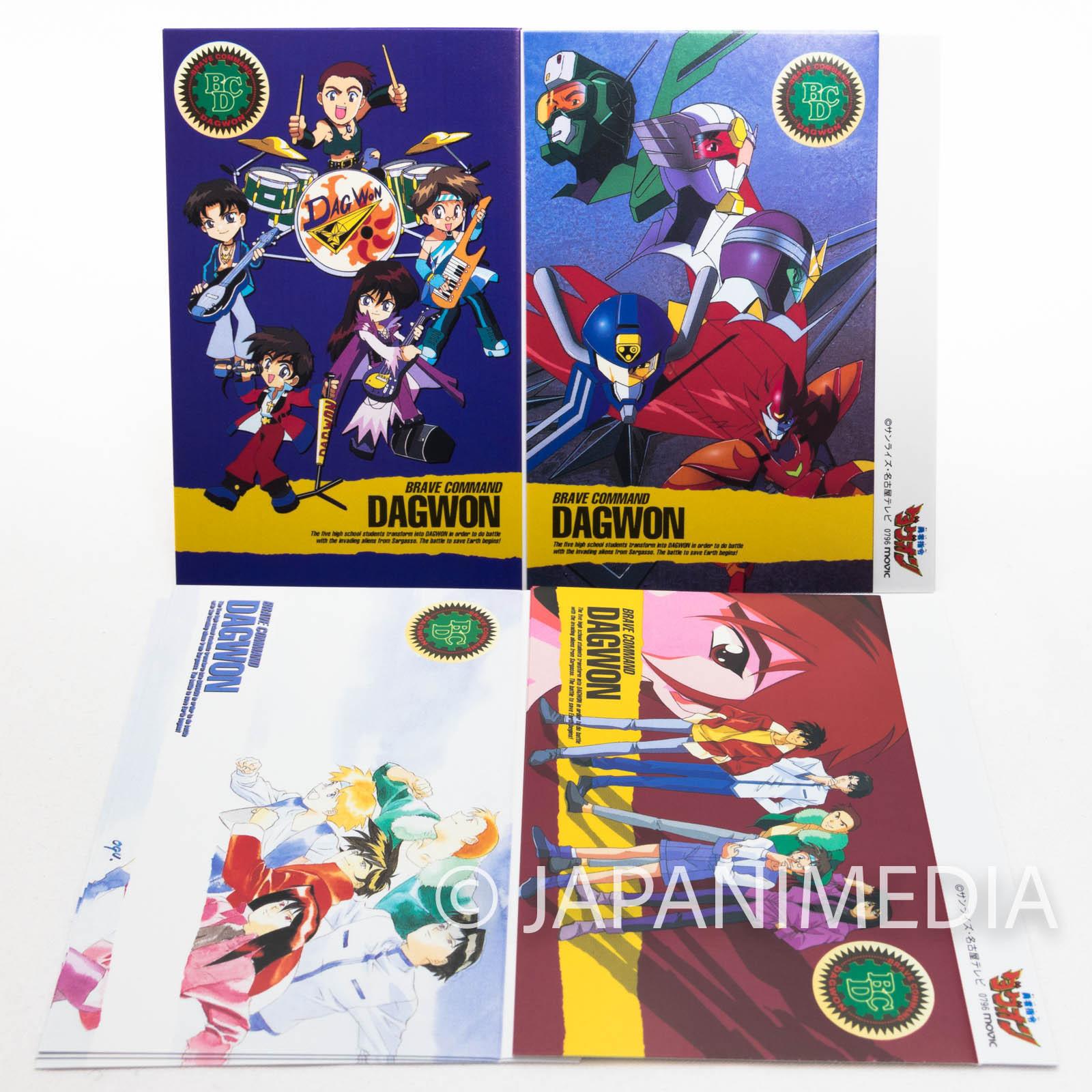 Brave Command Dagwon Cassette Index Card 12 Sheet JAPAN ANIME