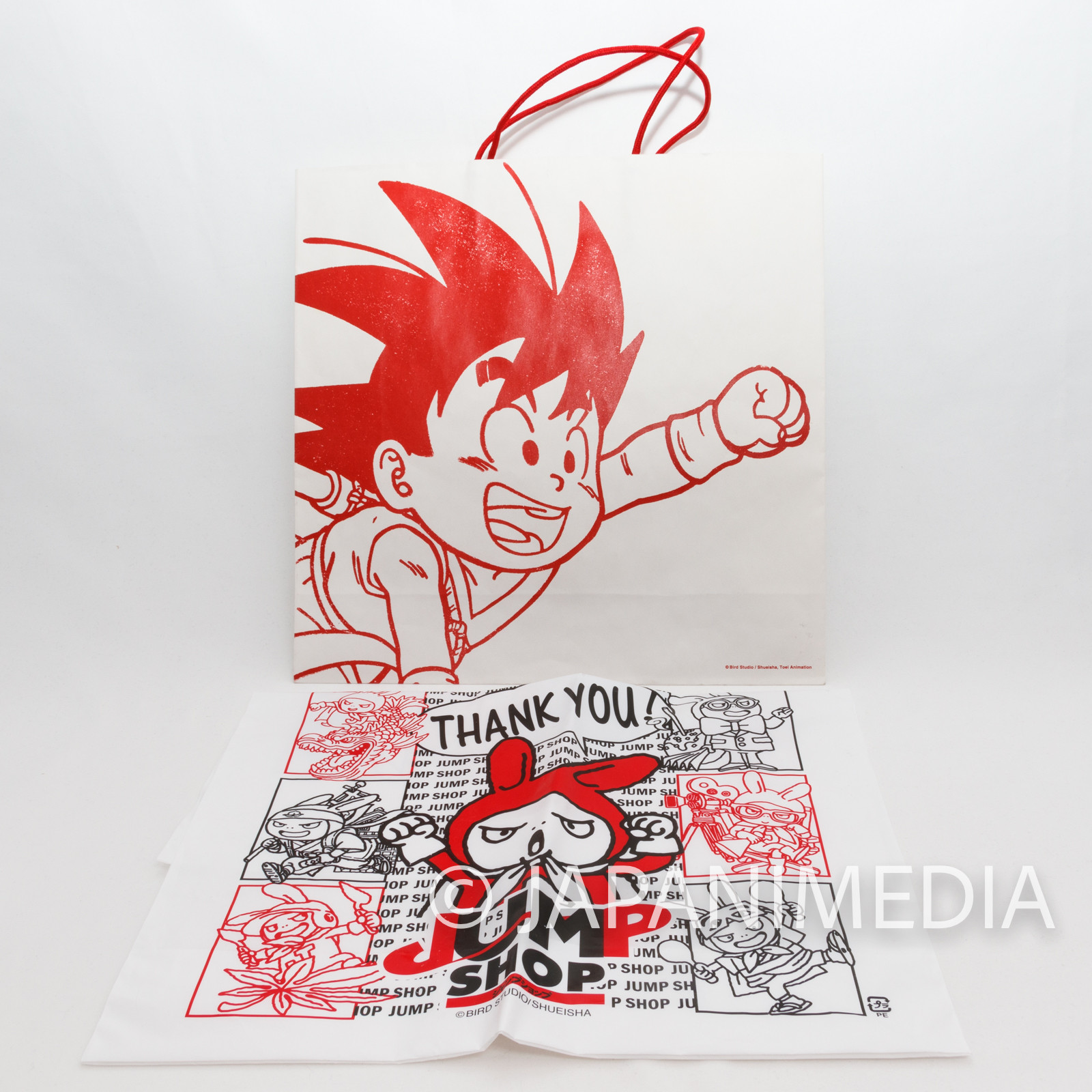 Dragon Ball UT Paper Bag + Jump Shop Vinyl Bag Shueisha JAPAN