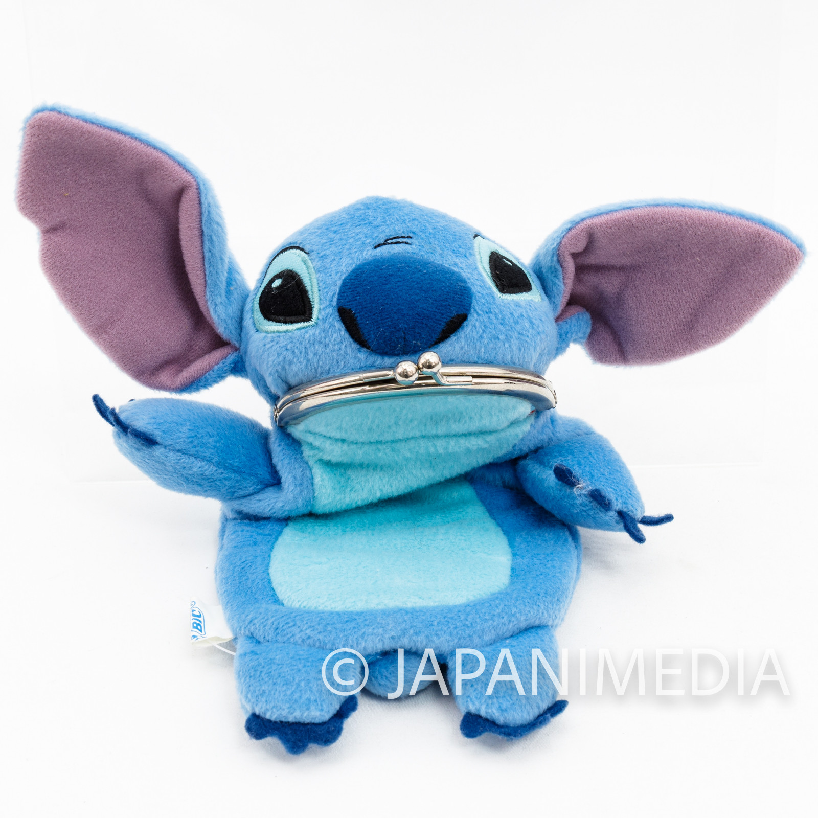 Stitch Plush type Gamaguchi Pen Case Disney