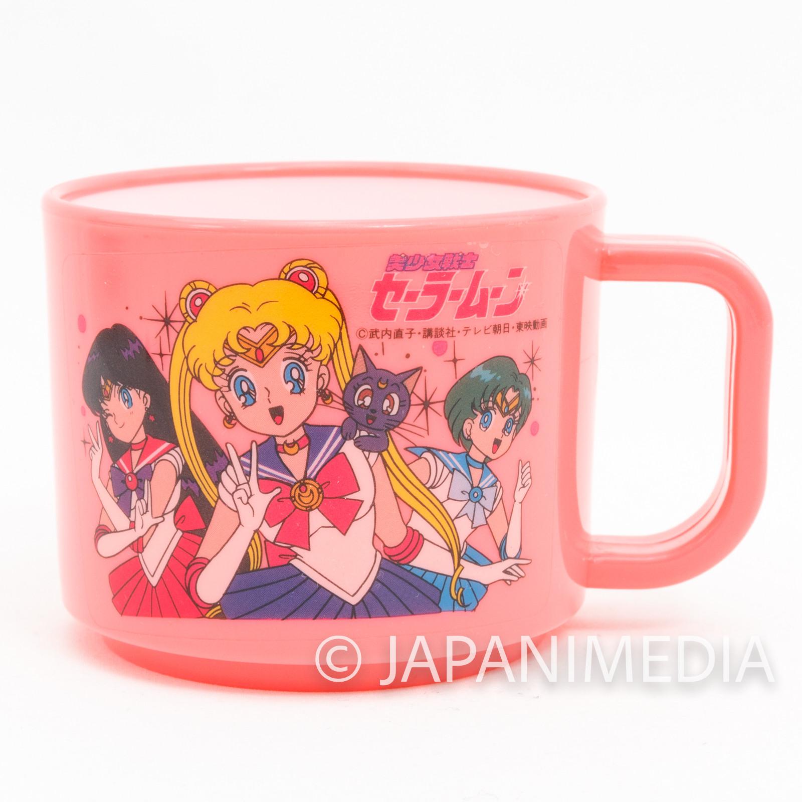 Retro Sailor Moon Mars Mercury Luna Plastic Mug JAPAN ANIME