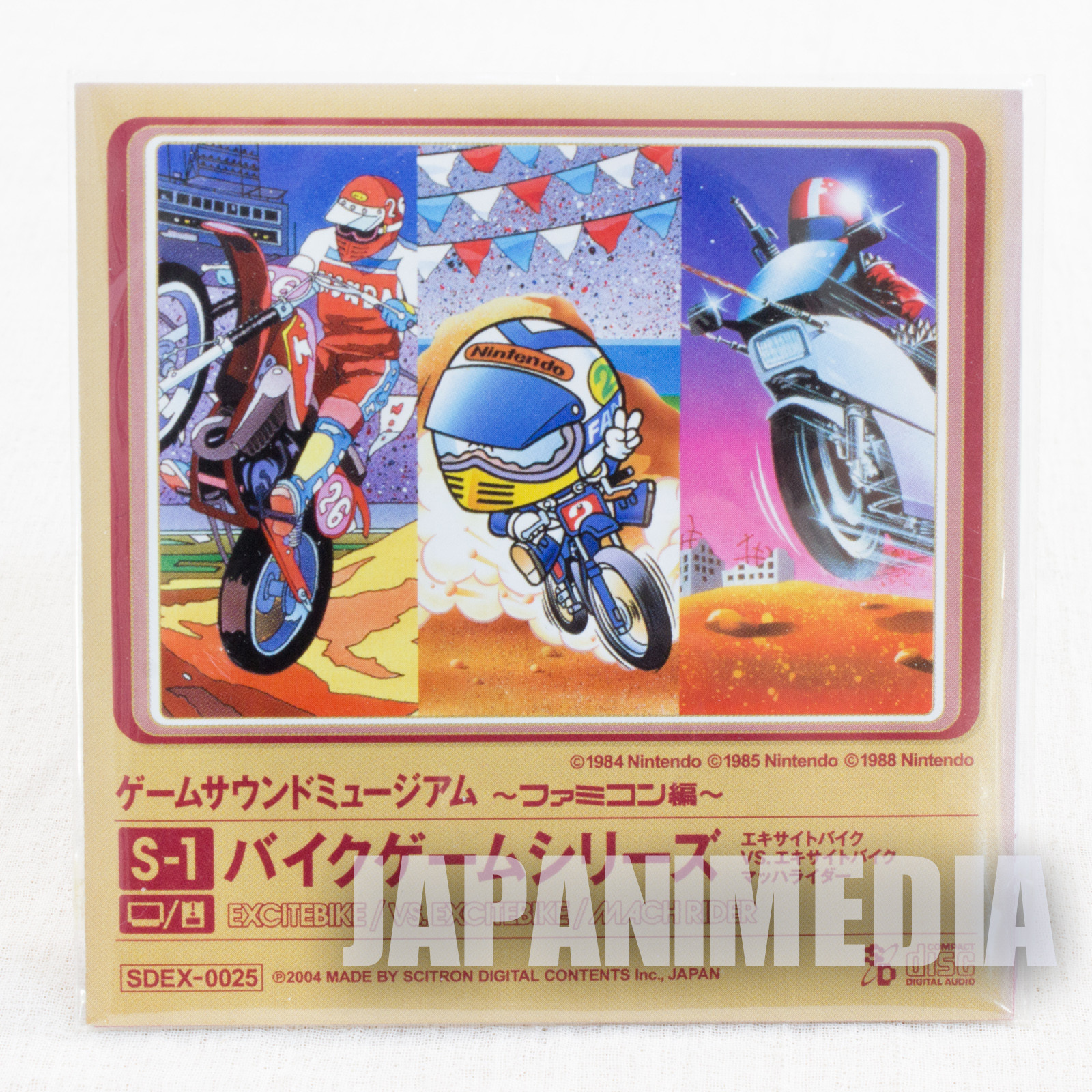 Excite Bike Mach Rider Game Sound Museum Nintendo Music 8cm CD JAPAN FAMICOM