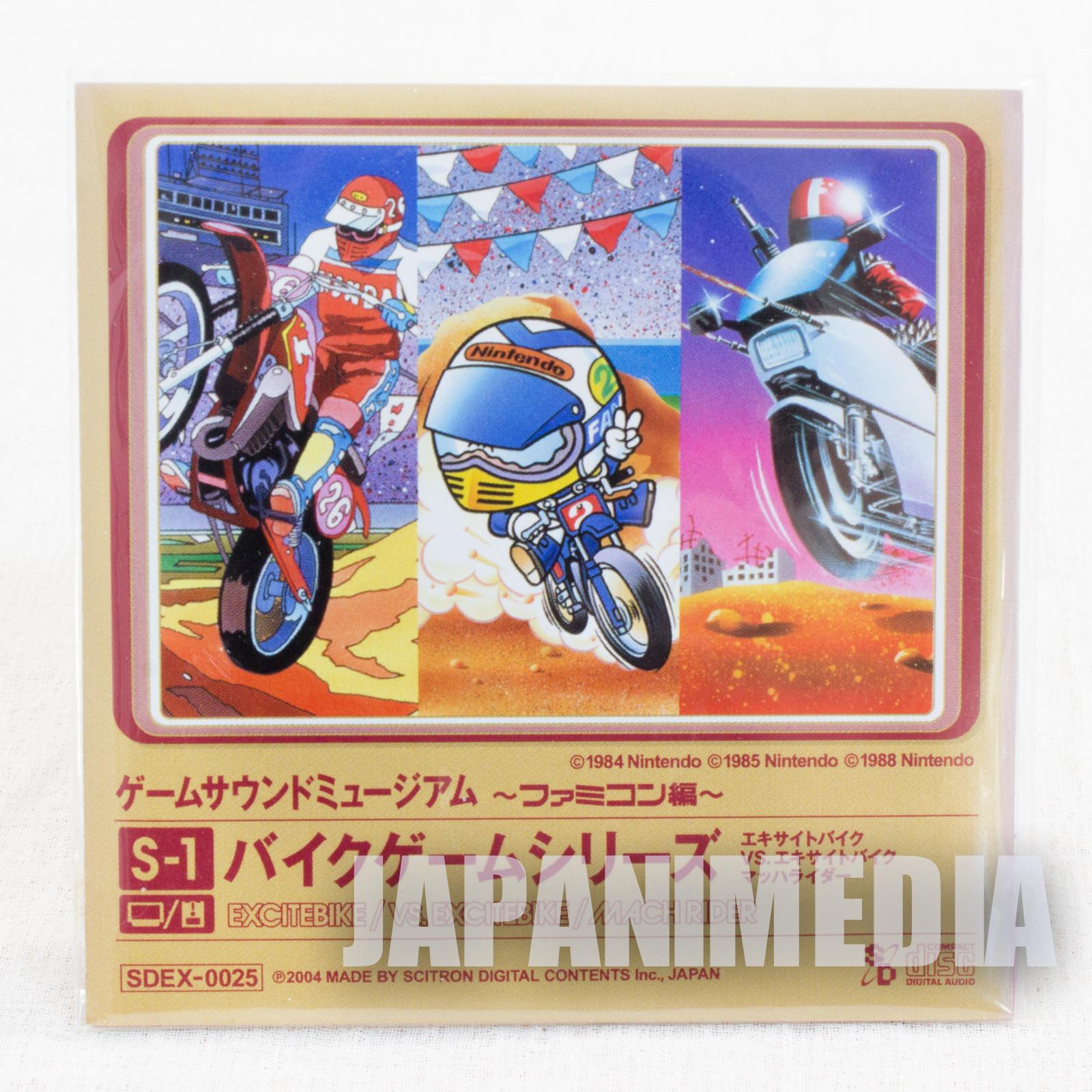 Excite Bike Mach Rider Game Sound Museum Nintendo Music 8cm CD JAPAN FAMICOM