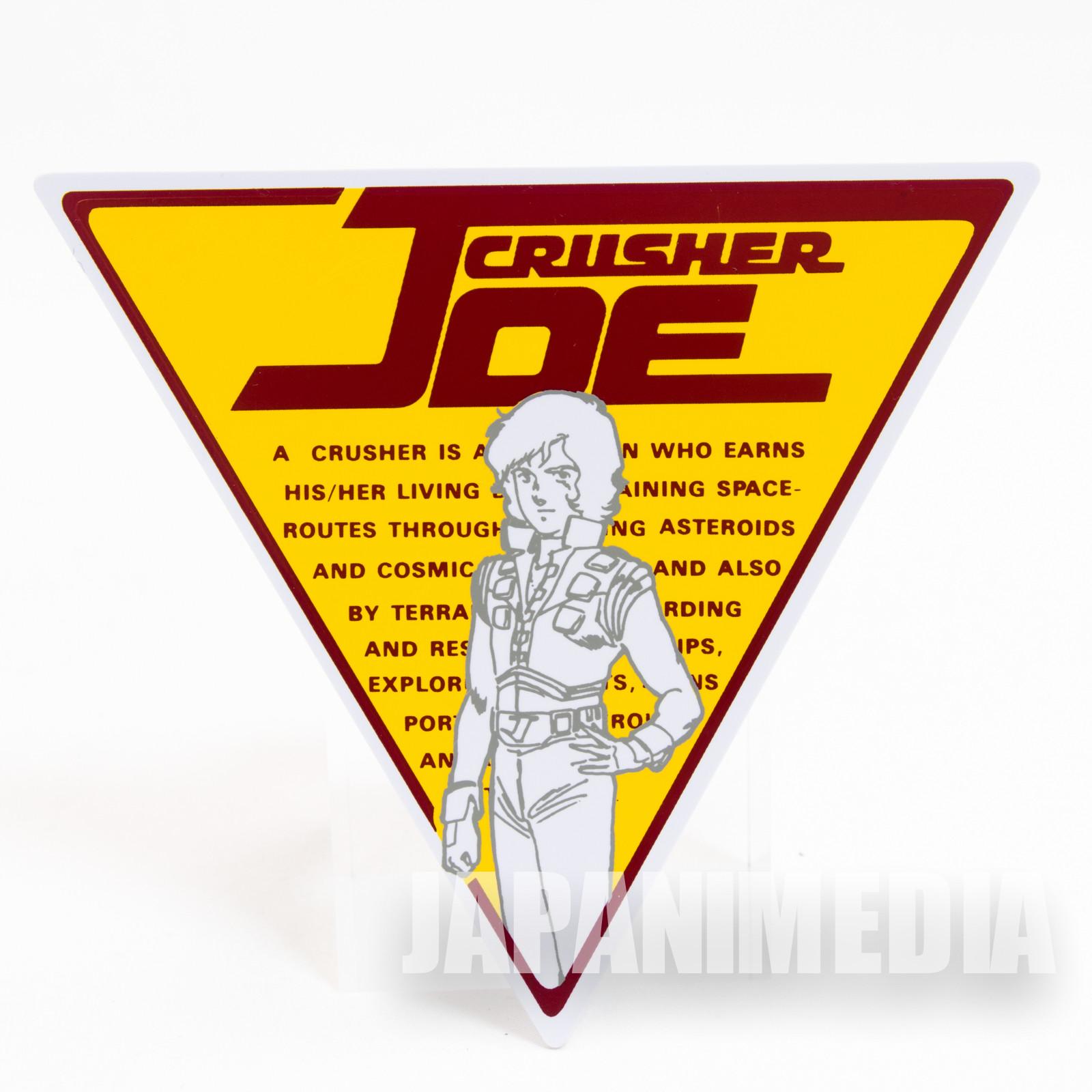 Crusher Joe Plastic Mascot Badge Pins JAPAN ANIME