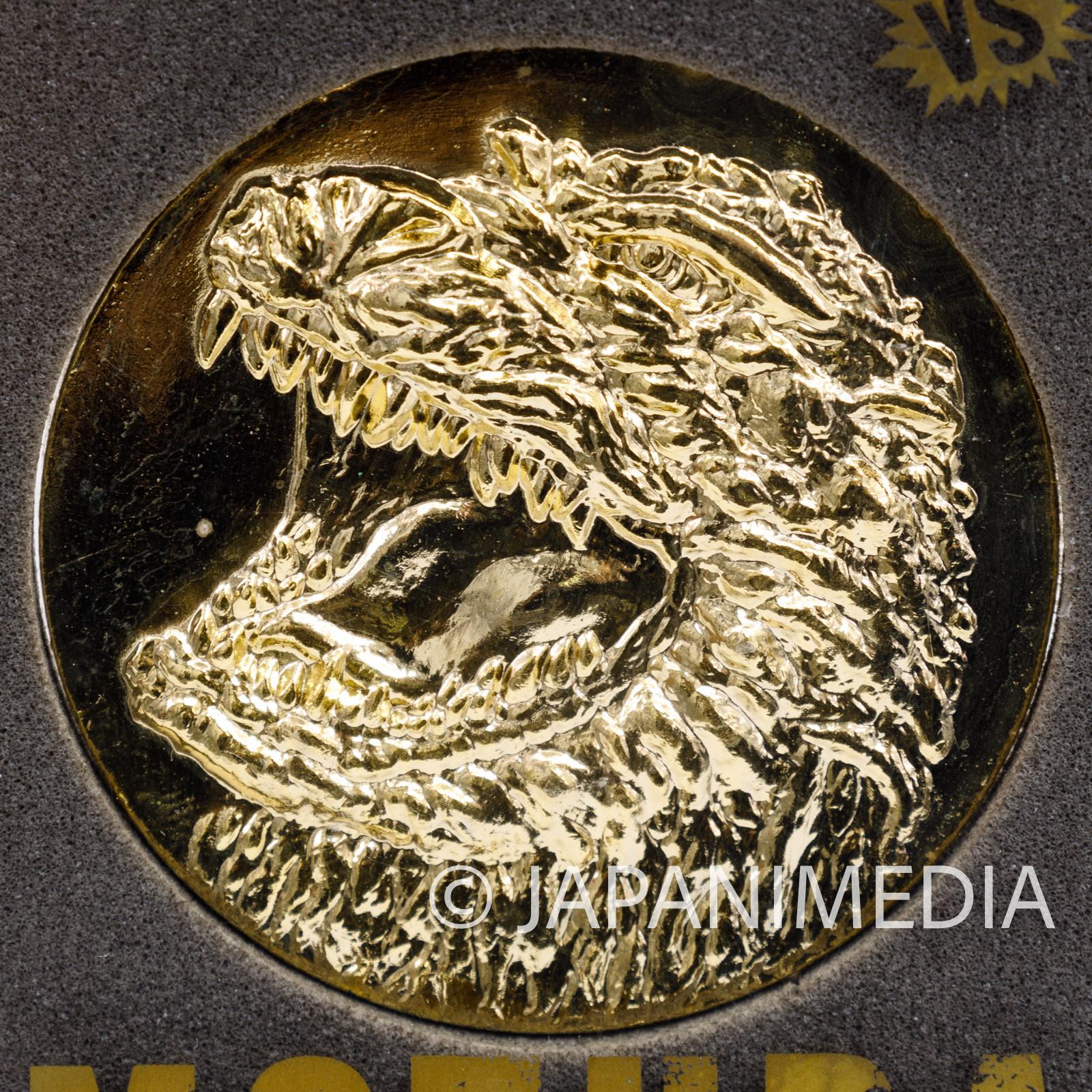 Godzilla vs Mothra Movie 1992 Memorial Medal Toho JAPAN TOKUSATSU