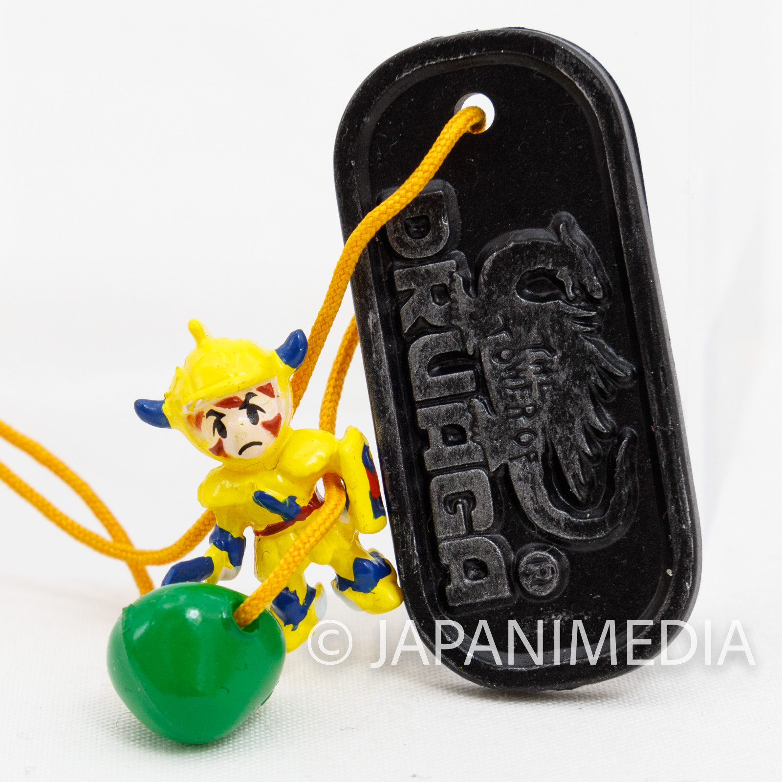 RARE! Tower of Druaga GIL & Green Slime Small Figure Plate Ballchain Namco