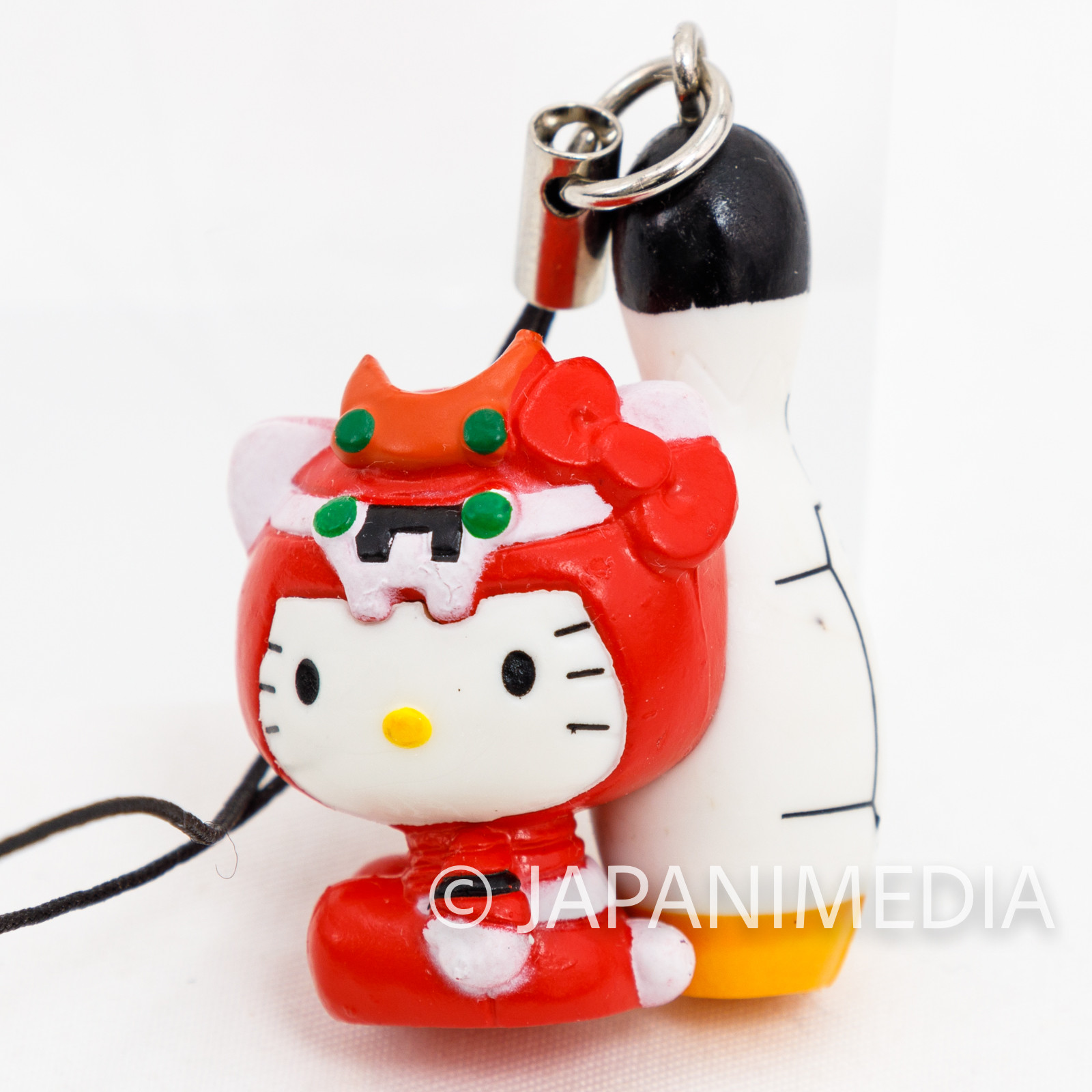 Evangelion EVA-02 x Hello Kitty with Bowling Pin Figure Strap JAPAN