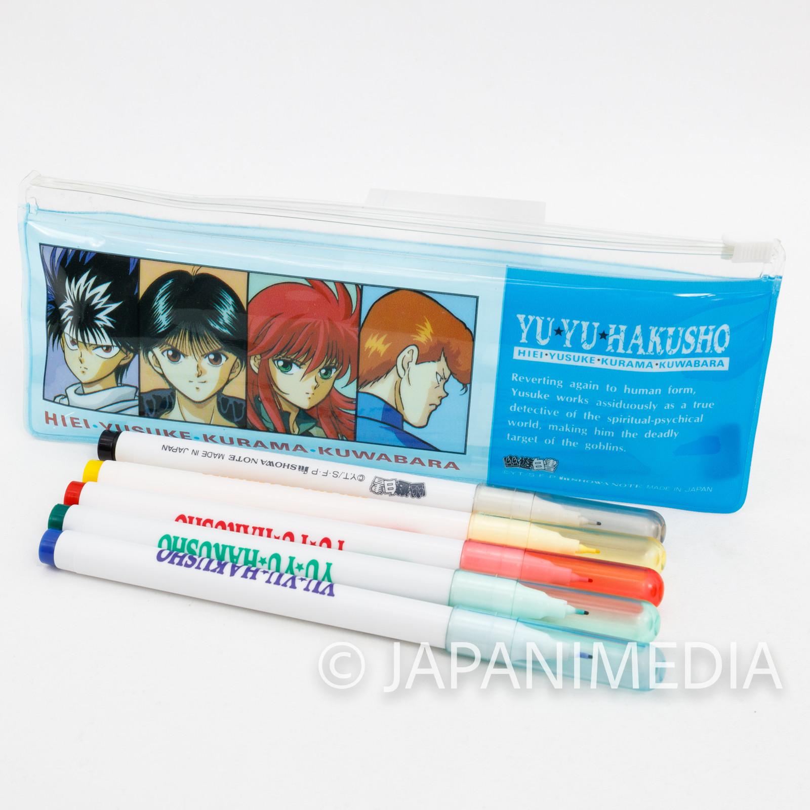 Yu Yu Hakusho Pen Case & Water-based pens Yusuke Kuwabara Kurama Hiei