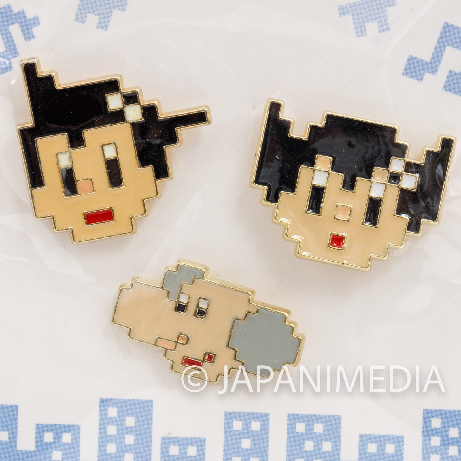 Astro Boy Atom Uran Dot Character Pins Set Osamu Tezuka Tokyo Pixel JAPAN ANIME