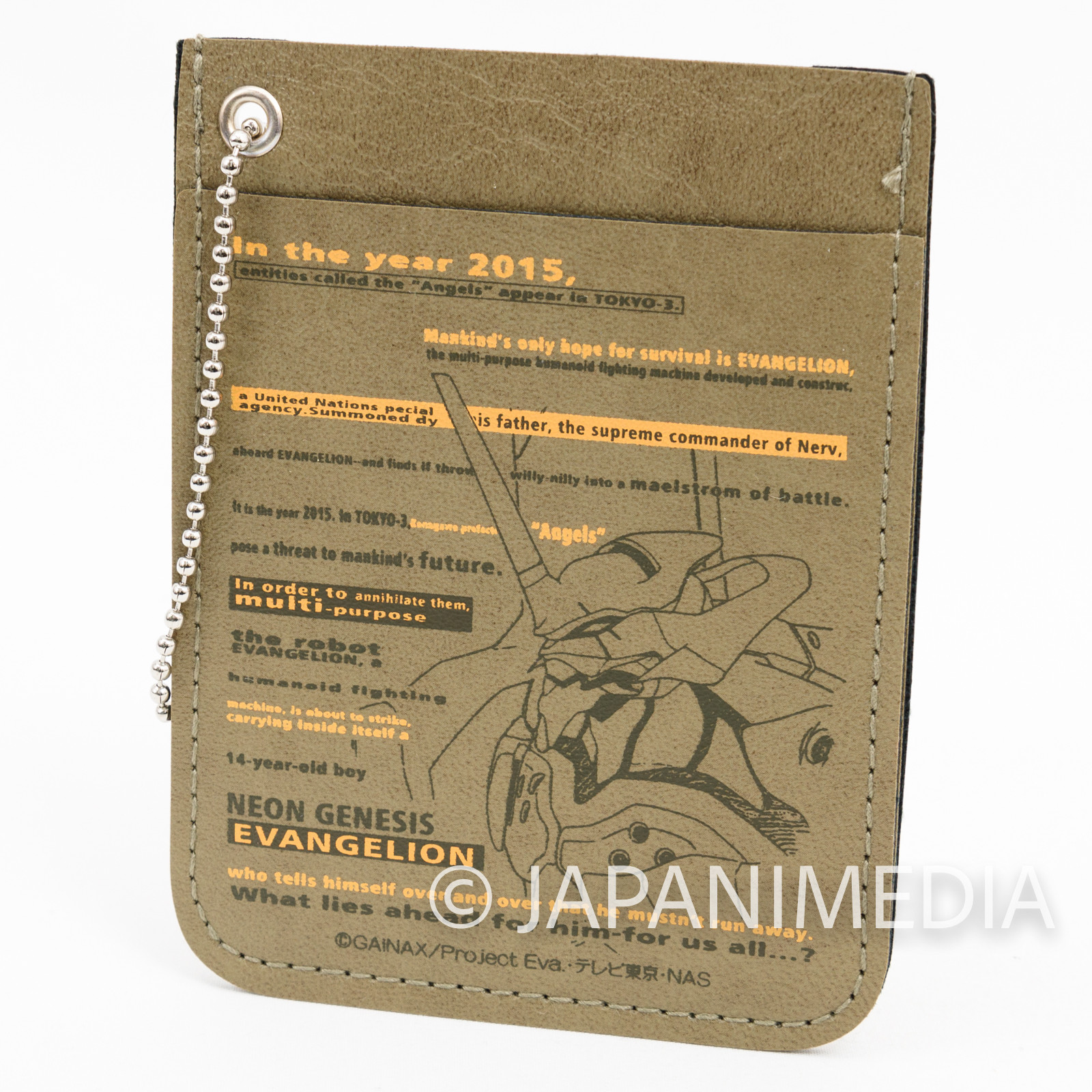 Evangelion EVA-01 Pass Card Case Ballchain JAPAN ANIME