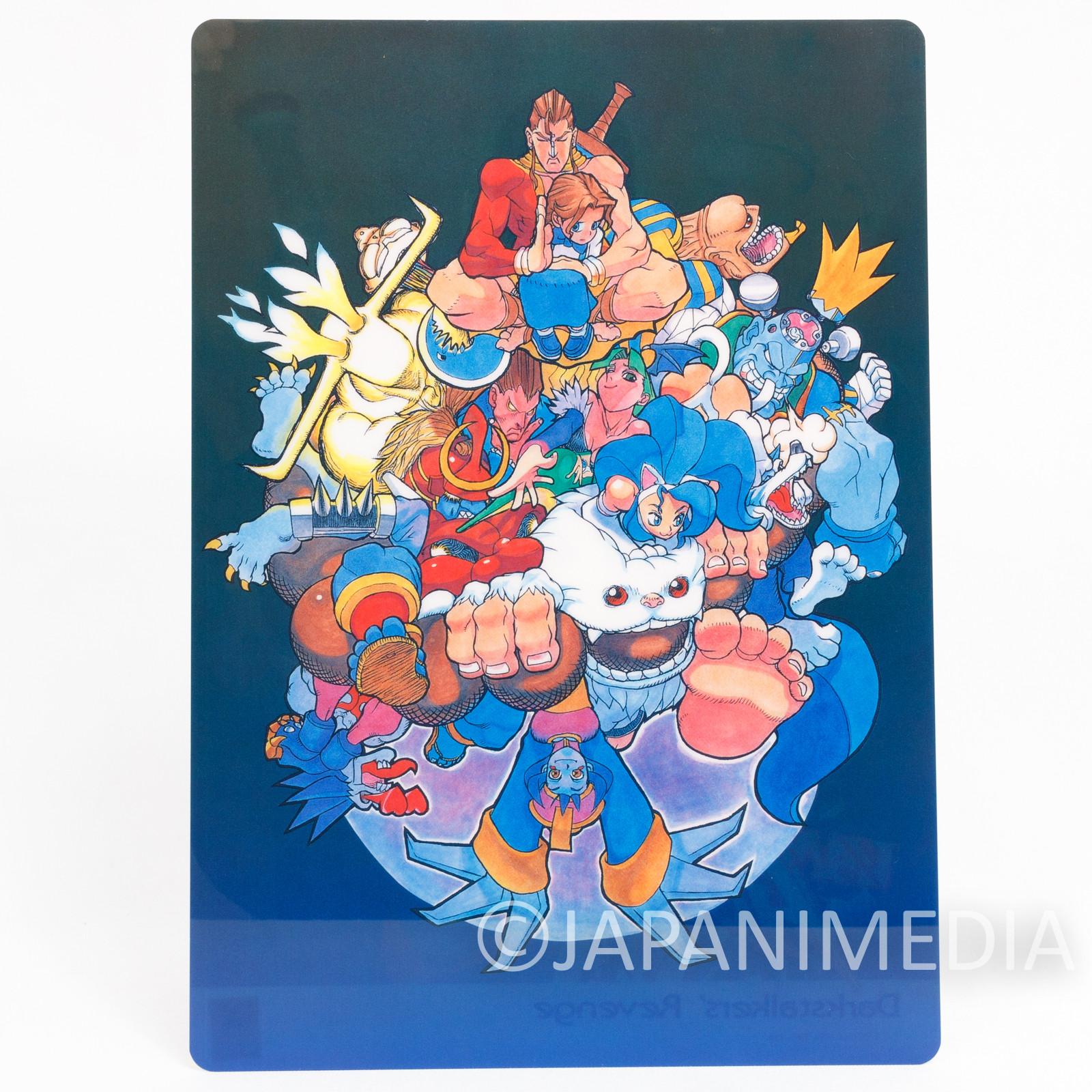 Darkstalkers Revenge Vampire Hunter Plastic Pencil Board Pad Shitajiki Capcom 1