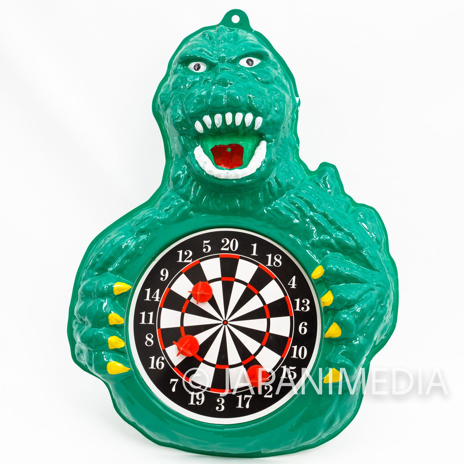 Retro Godzilla Plastic Darts Toy Set JAPAN TOKUSATSU