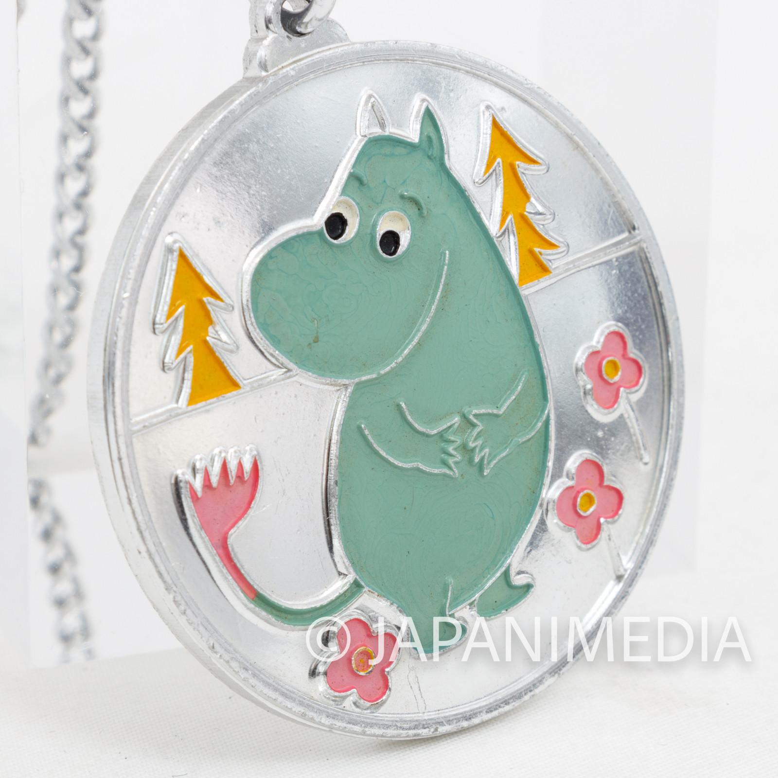 Retro Moomin Necklace Pendant Mirror Chain JAPAN