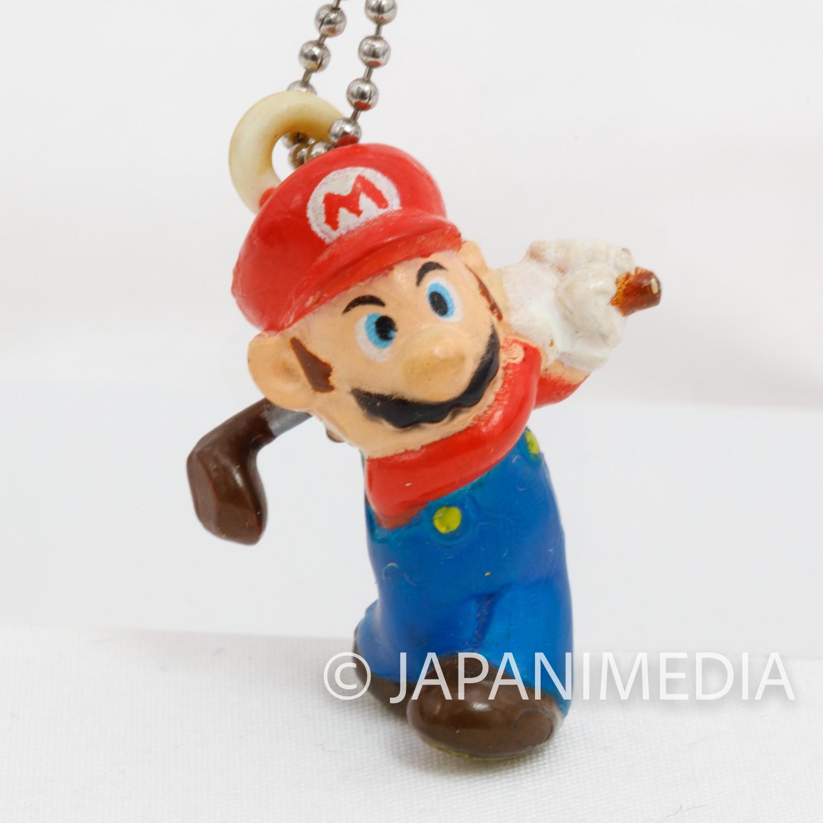Super Mario Bros. Mario Golf Figure Strap JAPAN NINTENDO 3DS