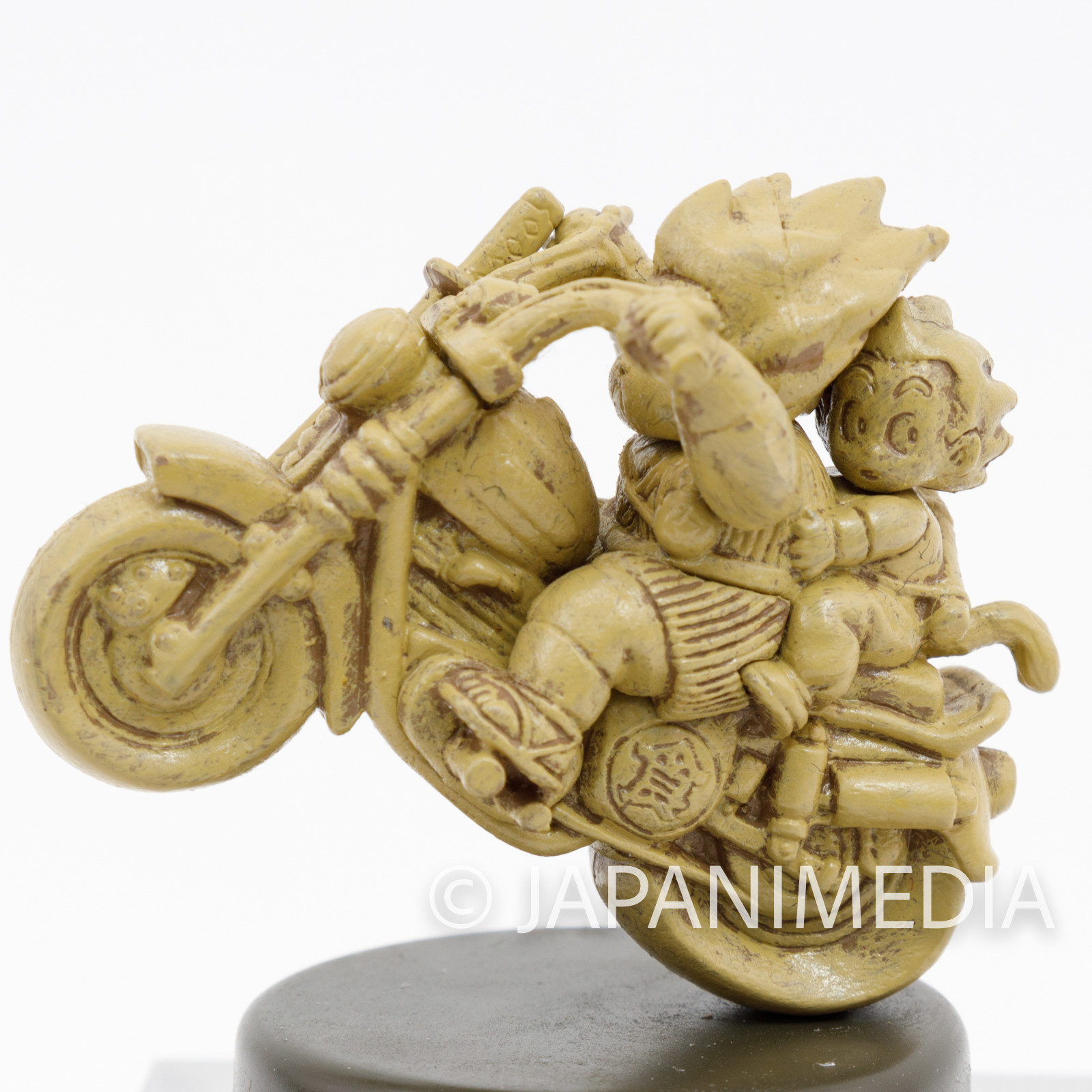 Dragon Ball Z Non-Colored Miniature Figure Son Gokou & Yajirobe on Motorcycle