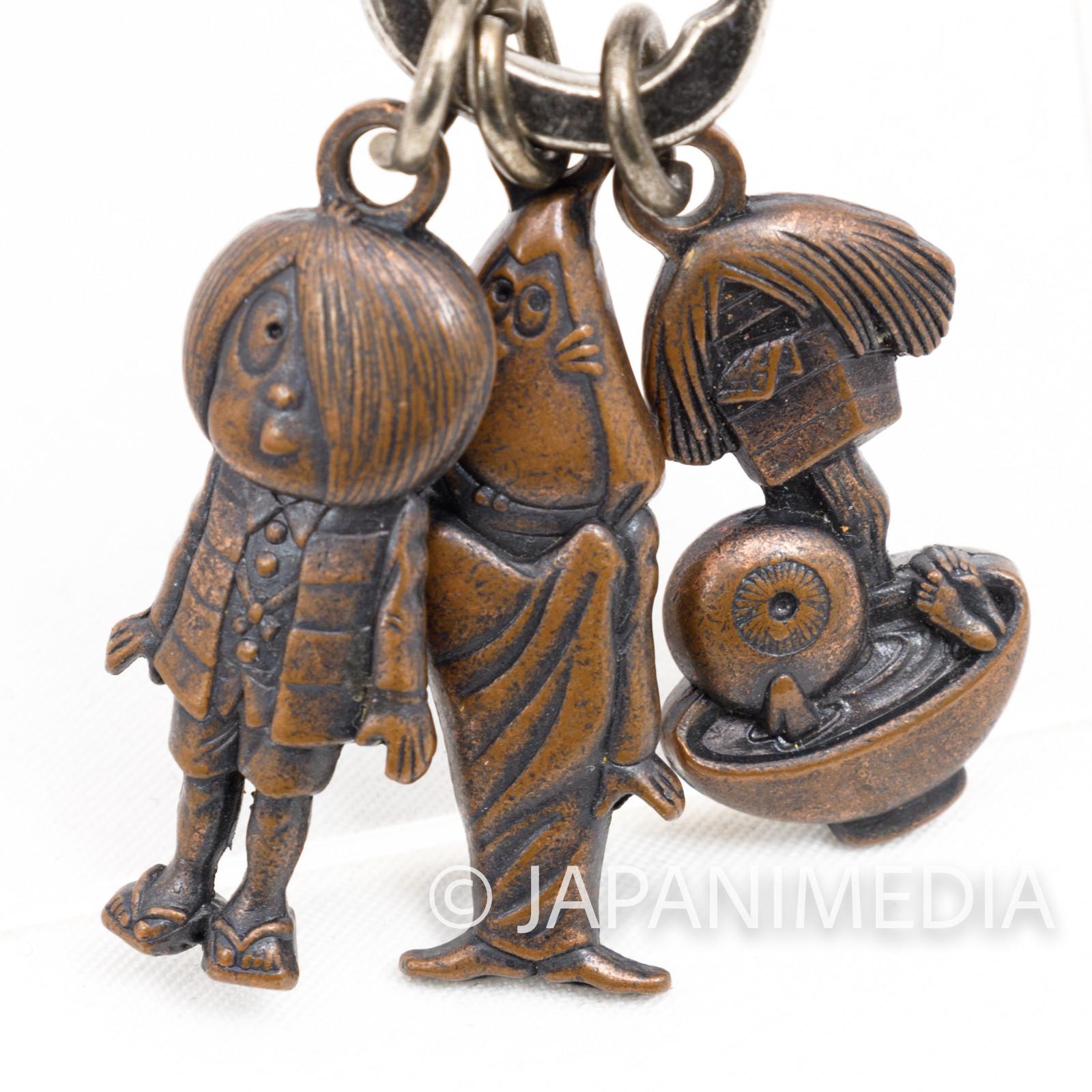 Gegege no Kitaro Medama Oyaji Nezumi Otoko Metal Mascot Keychain JAPAN YOKAI