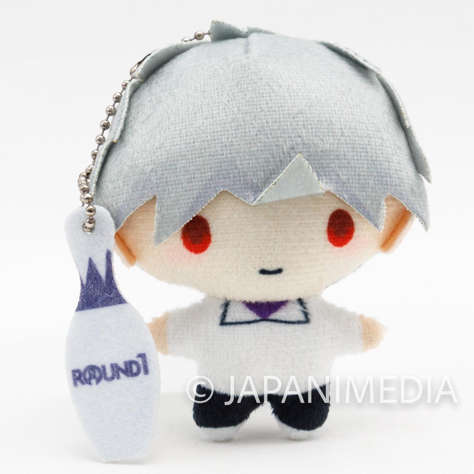 Shin Evangelion Kaworu Nagisa Mini Mascot Plush Doll Ballchain JAPAN