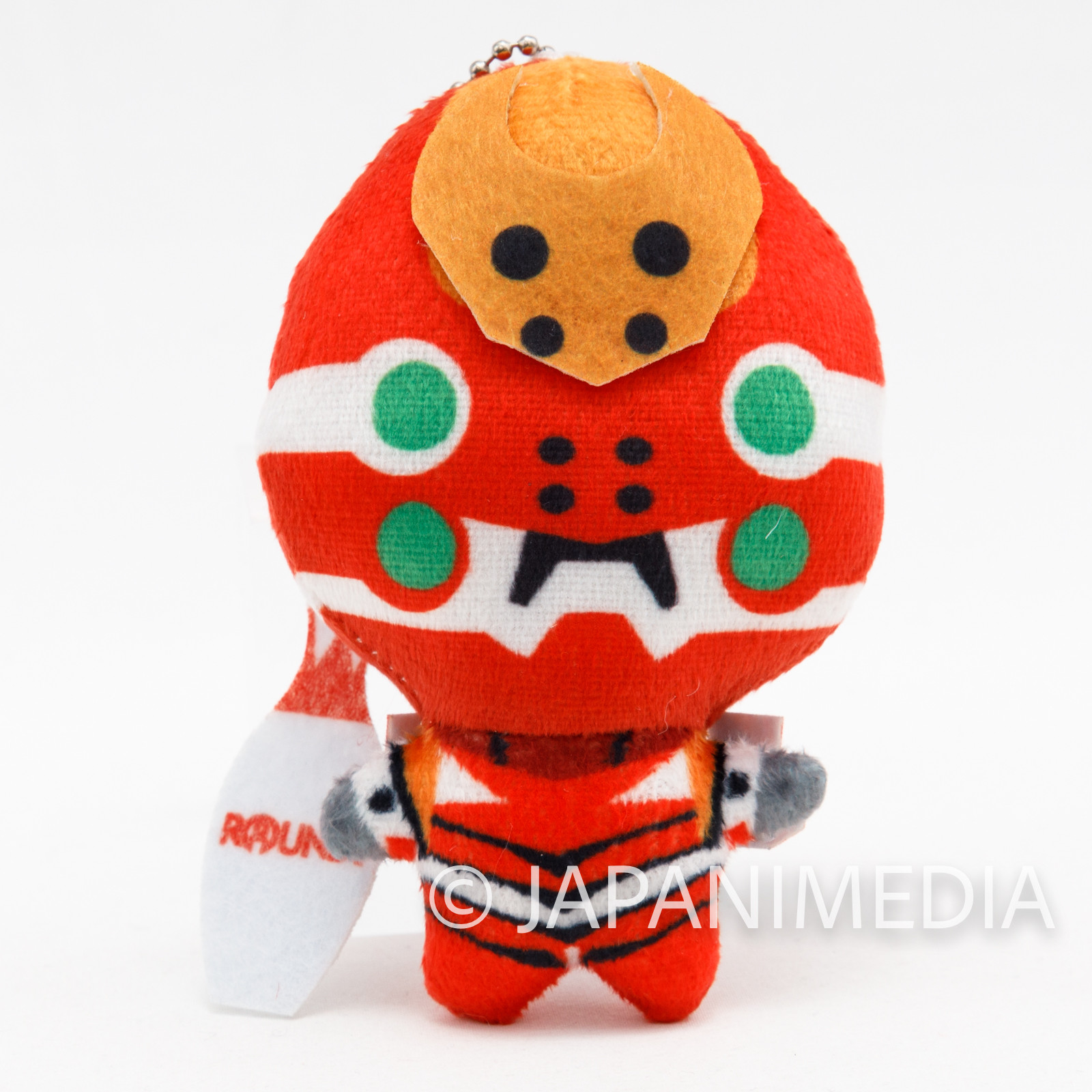 Shin Evangelion EVA-02 Mini Mascot Plush Doll Ballchain JAPAN