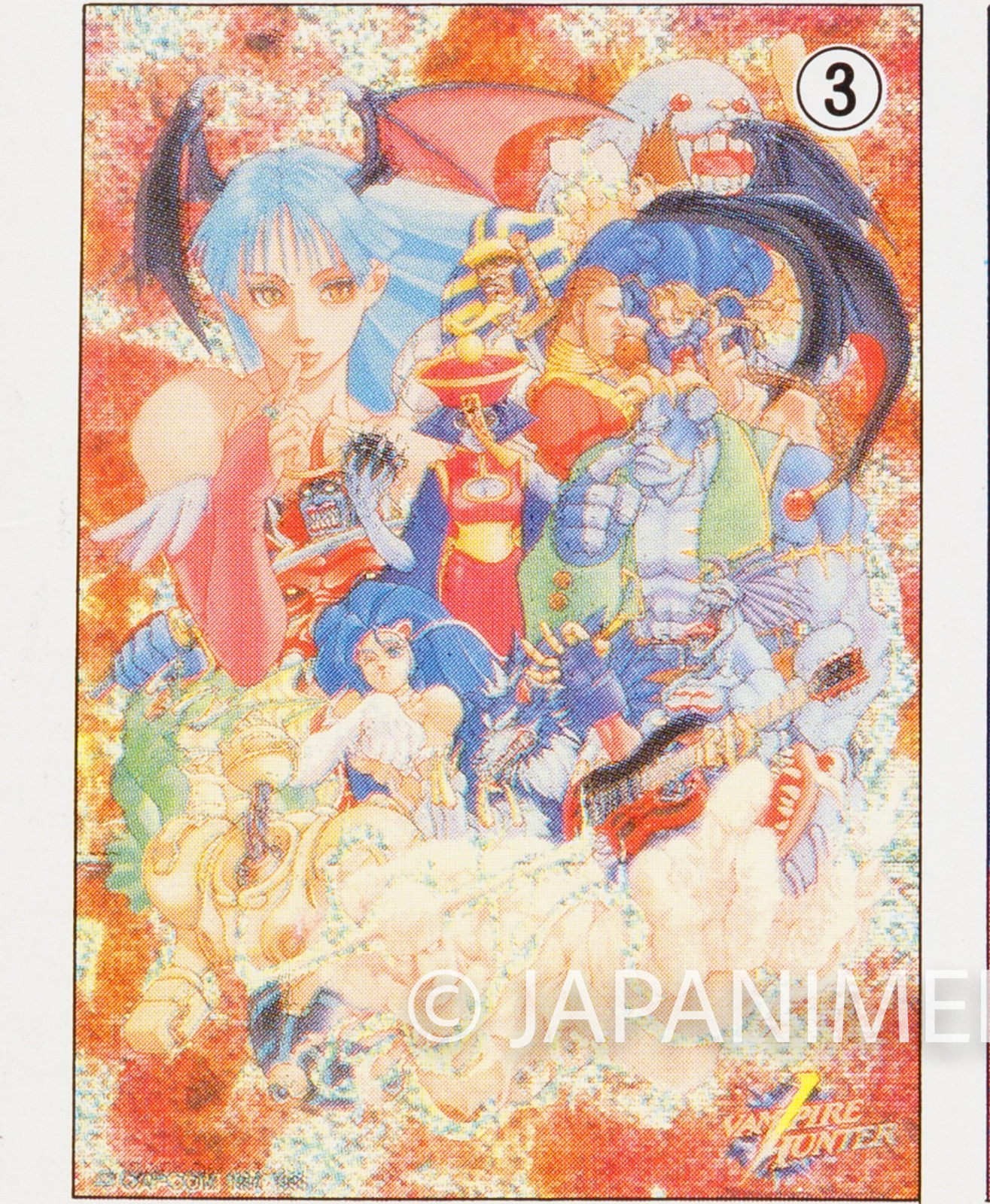 Darkstalkers (Vampire Hunter) Toy Jigsaw Puzzle 54 Pieces #3 JAPAN Capcom