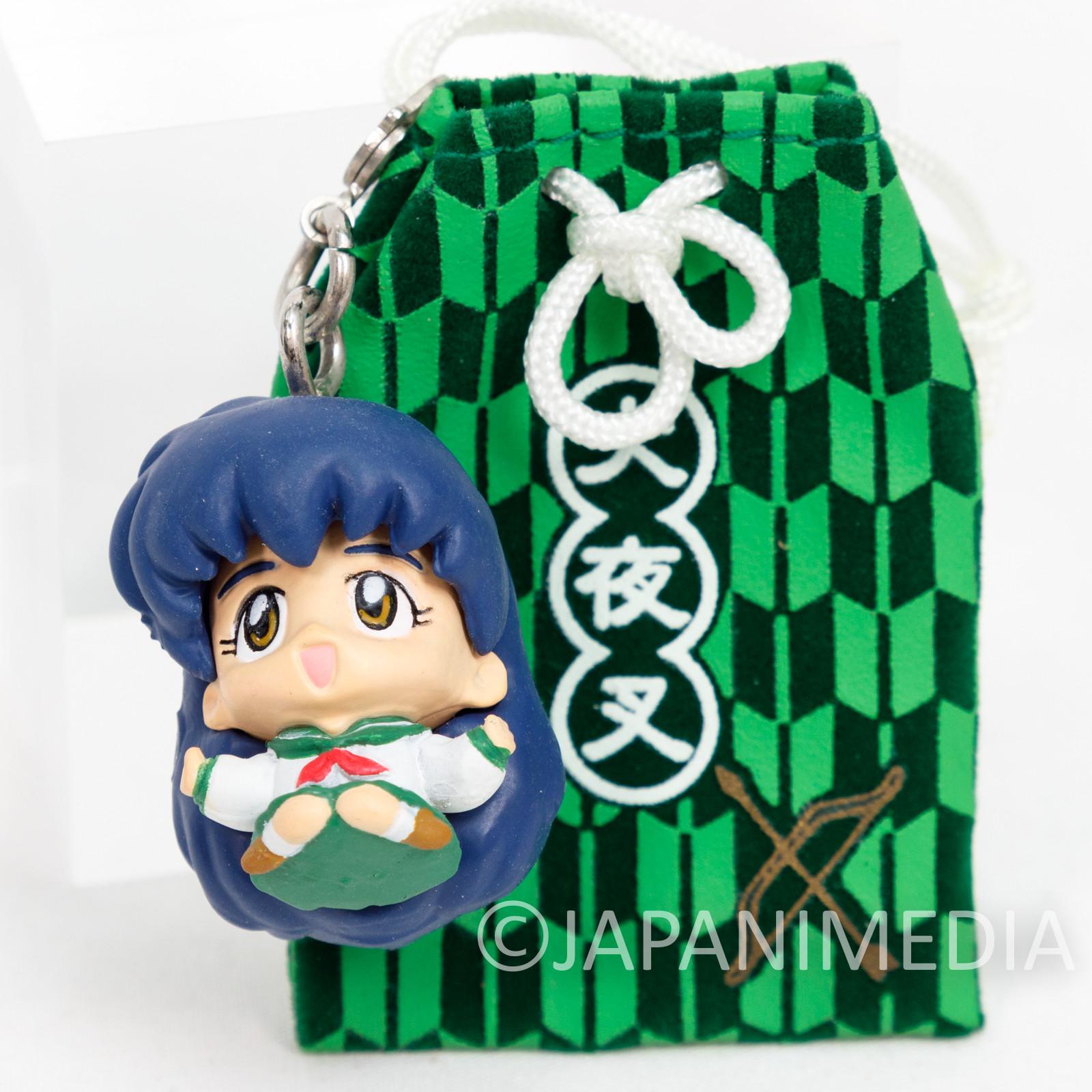InuYasha Kagome Mini Figure & Talisman Omamori JAPAN ANIME RUMIKO TAKAHASHI