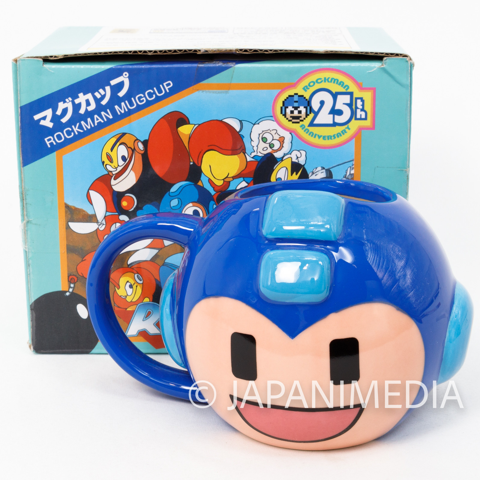 MEGA MAN Mug Blue ver. 25th Anniversary JAPAN GAME CAPCOM ROCK MAN