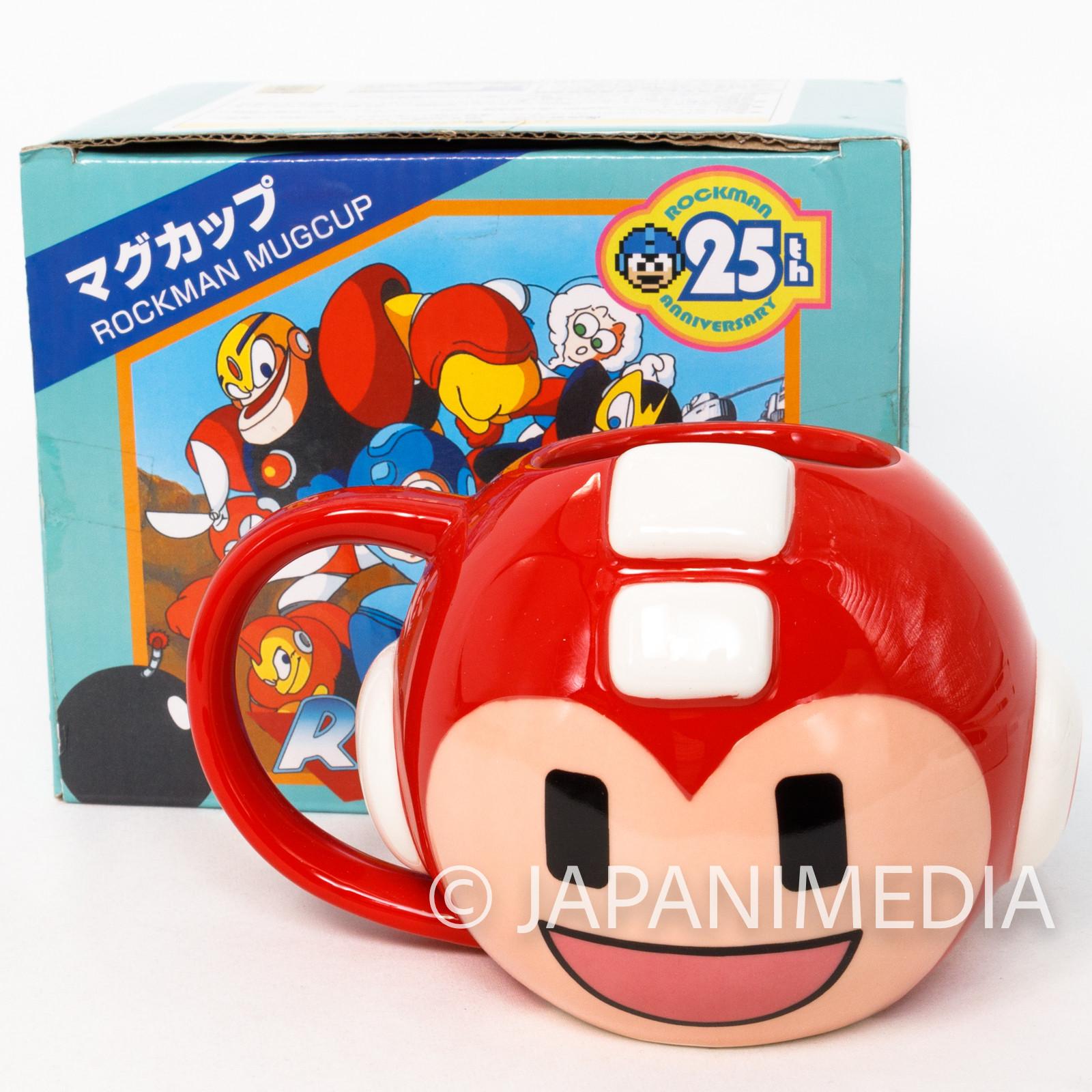 Megaman Mug Red ver. 25th Anniversary JAPAN GAME CAPCOM ROCK MAN