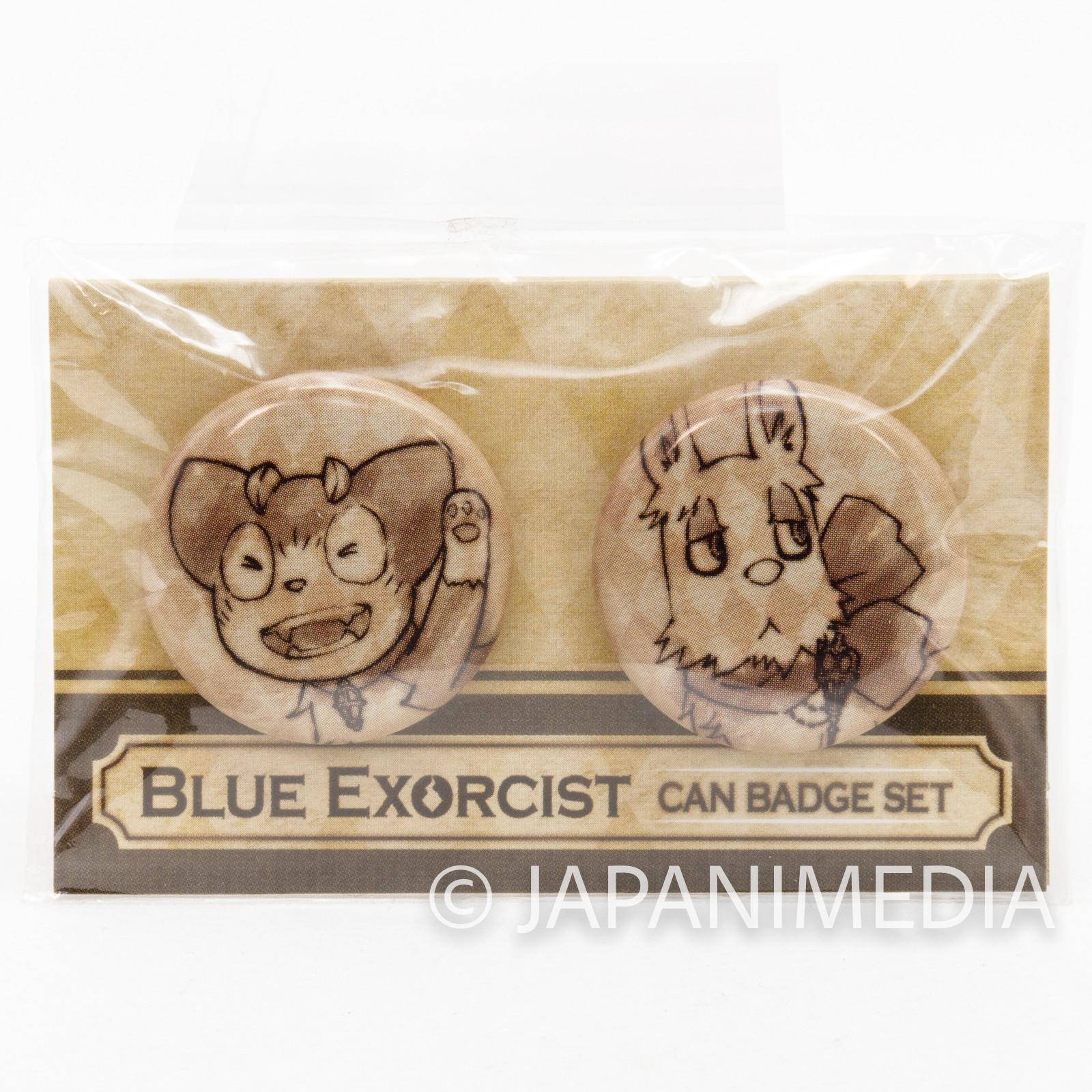 Blue Exorcist Mephisto Dog & Kuro Cat Can Badge Pins Set JAPAN ANIME