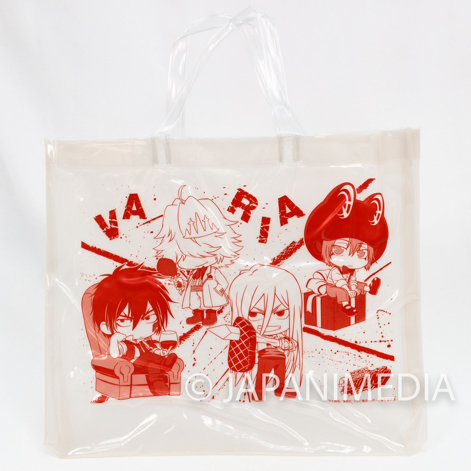 Katekyo Hitman REBORN! Varia Vinyl Tote Bag 11x13 inch JAPAN ANIME