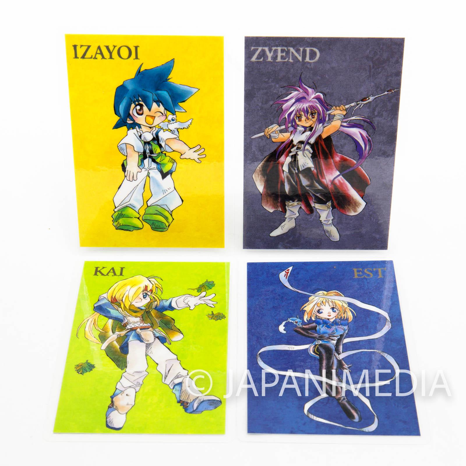 Toki no Daichi Laminate Card 4pc set [Izayoi | Zyend | Kai | EST] Miyuki Yama JAPAN MANGA
