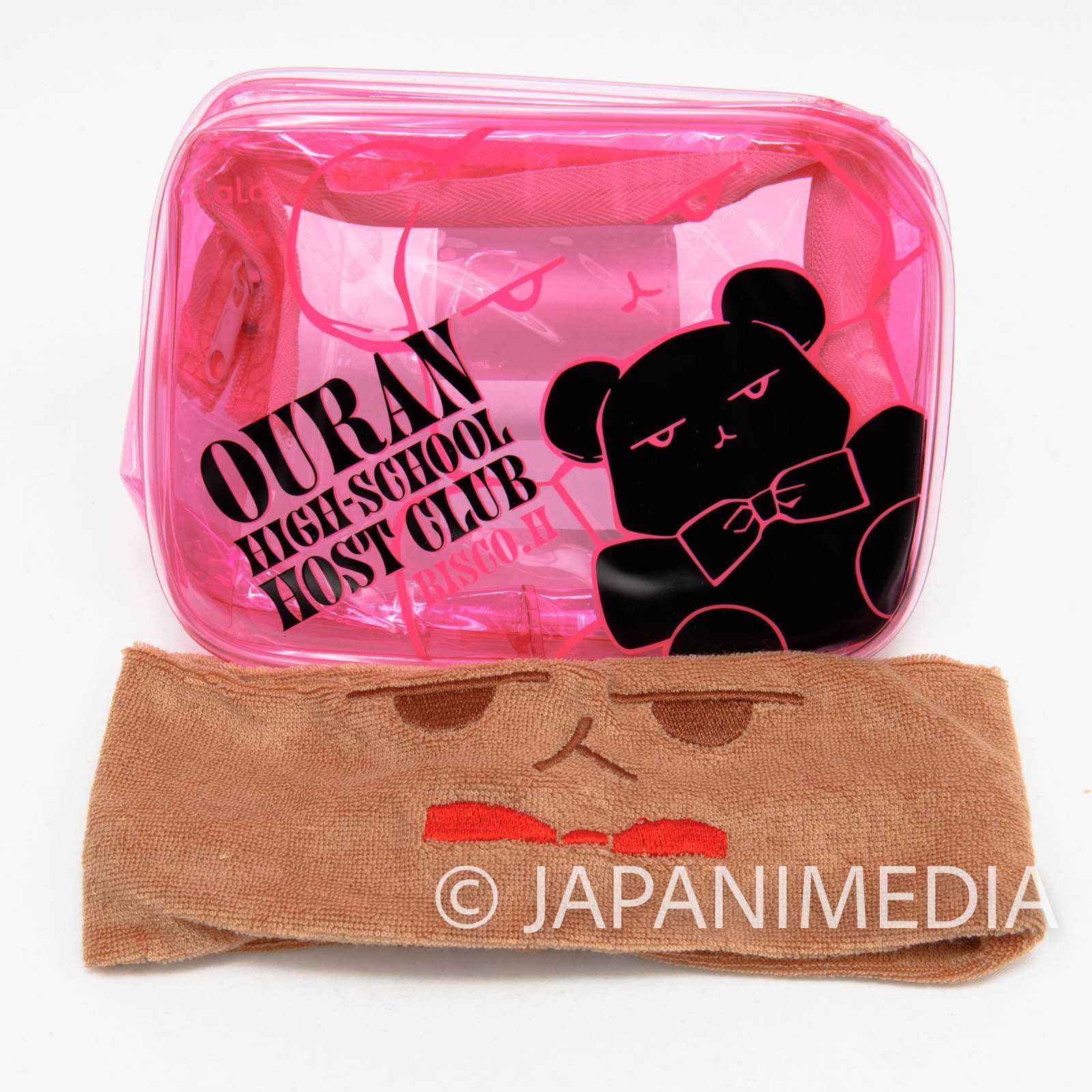 Ouran High School Host Club Kuma-chan Clear Pouch bag & Hairband Set JAPAN MANGA