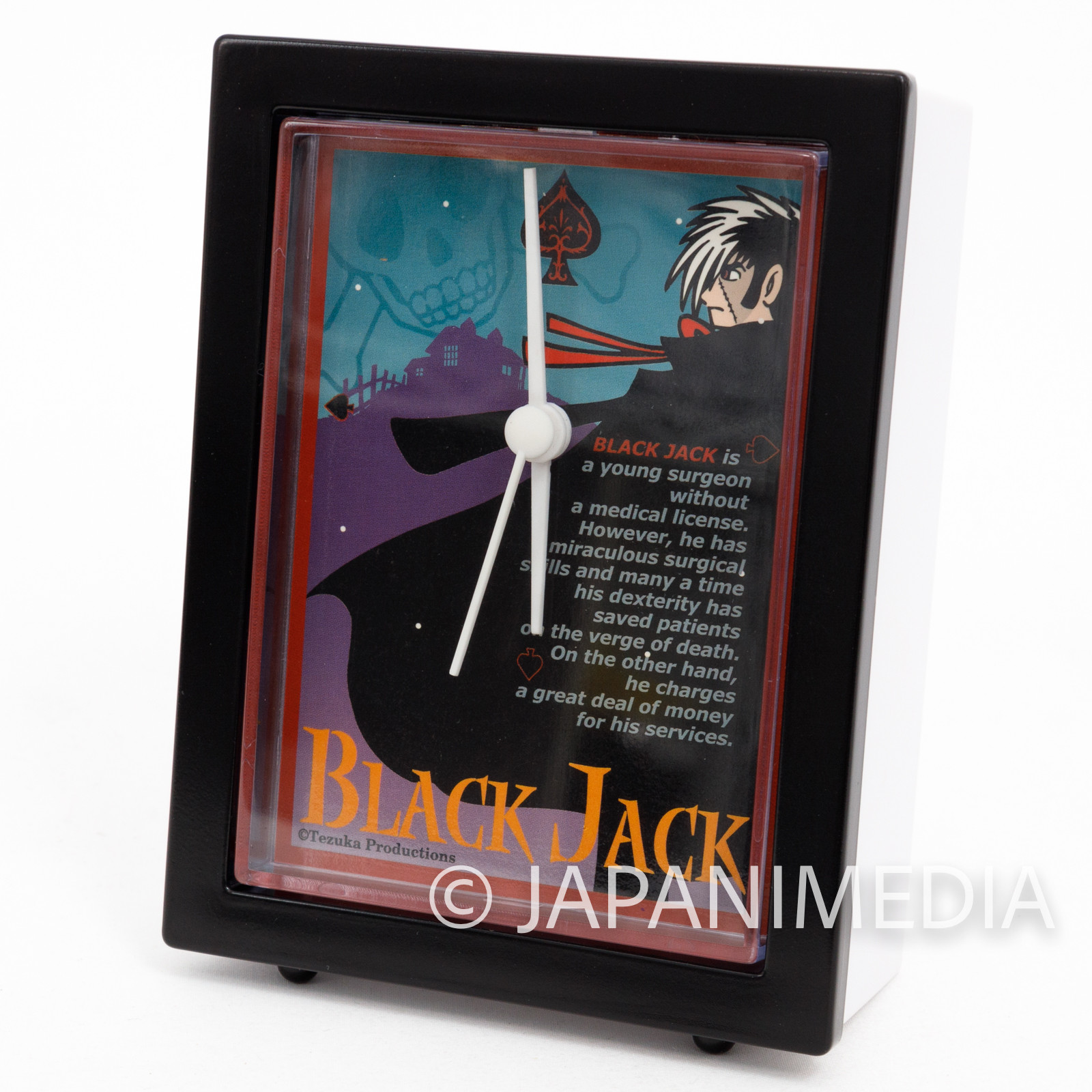 Retro RARE! Black Jack Desk Clock #1 Tezuka Osamu JAPAN ANIME MANGA