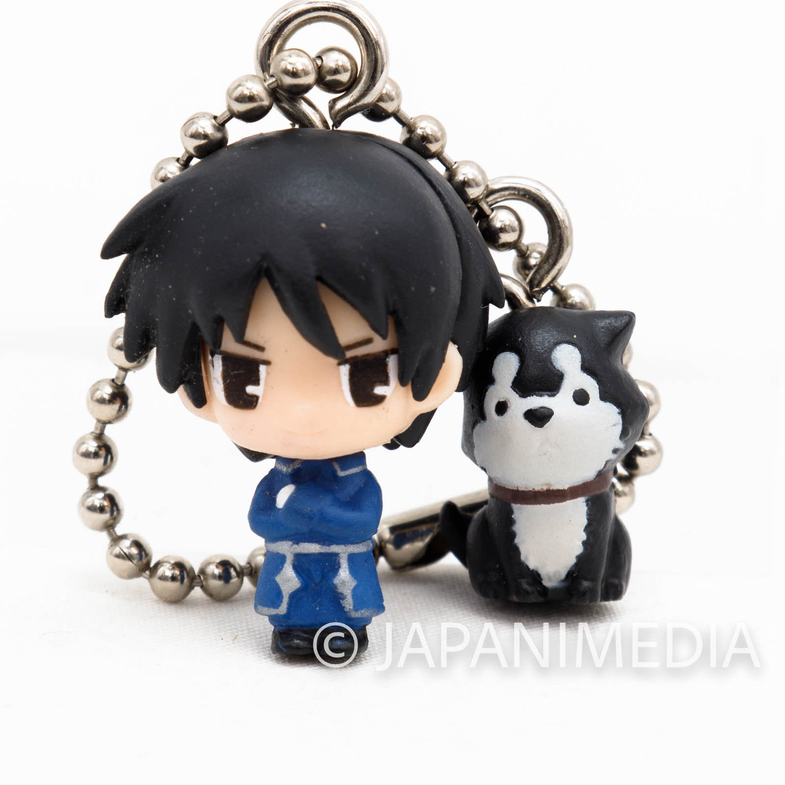 FullMetal Alchemist Roy Mustang & Black Hayate Hagaren W Swing Figure Ball Keychain vol.2 JAPAN ANIME MANGA