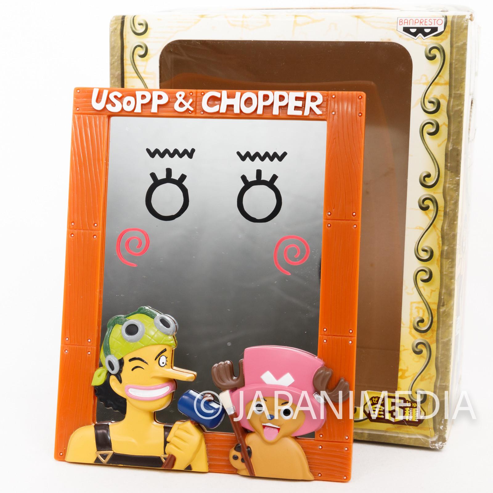 One Piece Mirror Stand Relief Usopp & Chopper JAPAN ANIME SHONEN JUMP
