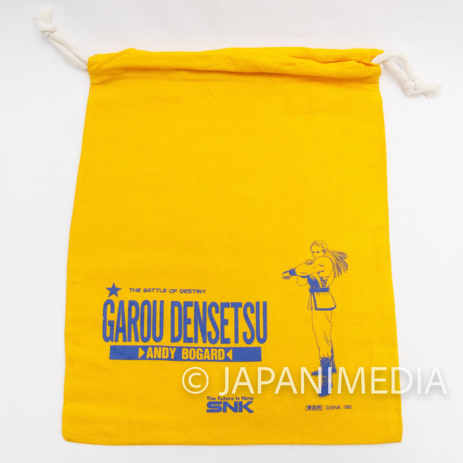 Garou Densetsu Fatal Fury Drawstring Bag Andy Bogard Yellow SNK NEOGEO