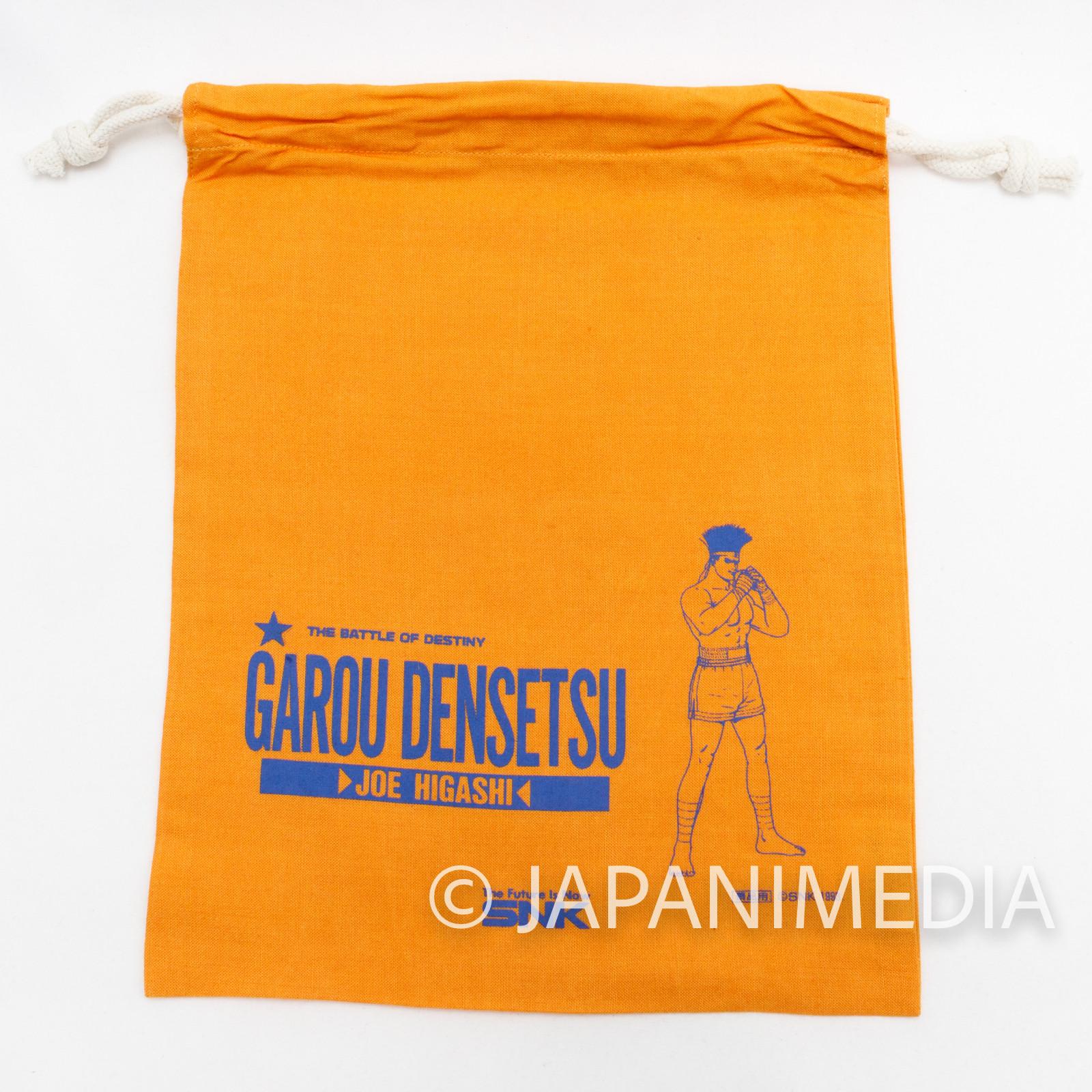 Garou Densetsu Fatal Fury Drawstring Bag Joe Higashi Orange SNK NEOGEO